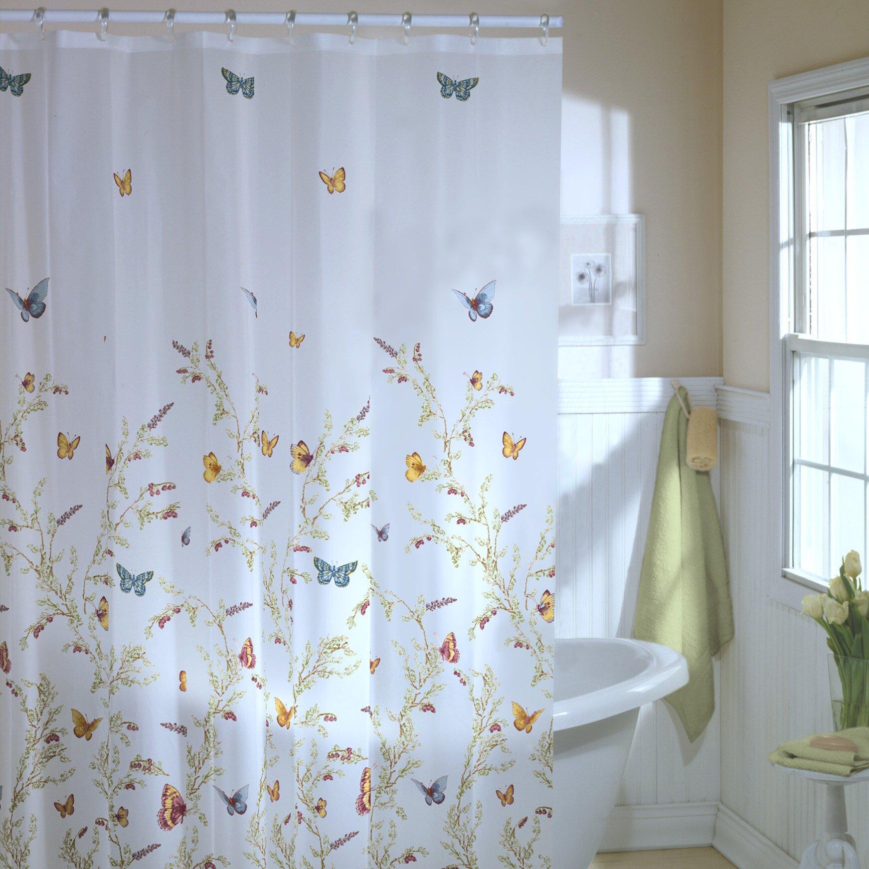 Flight Bathroom Door: August Grove Ramona Garden Flight Shower Curtain & Reviews