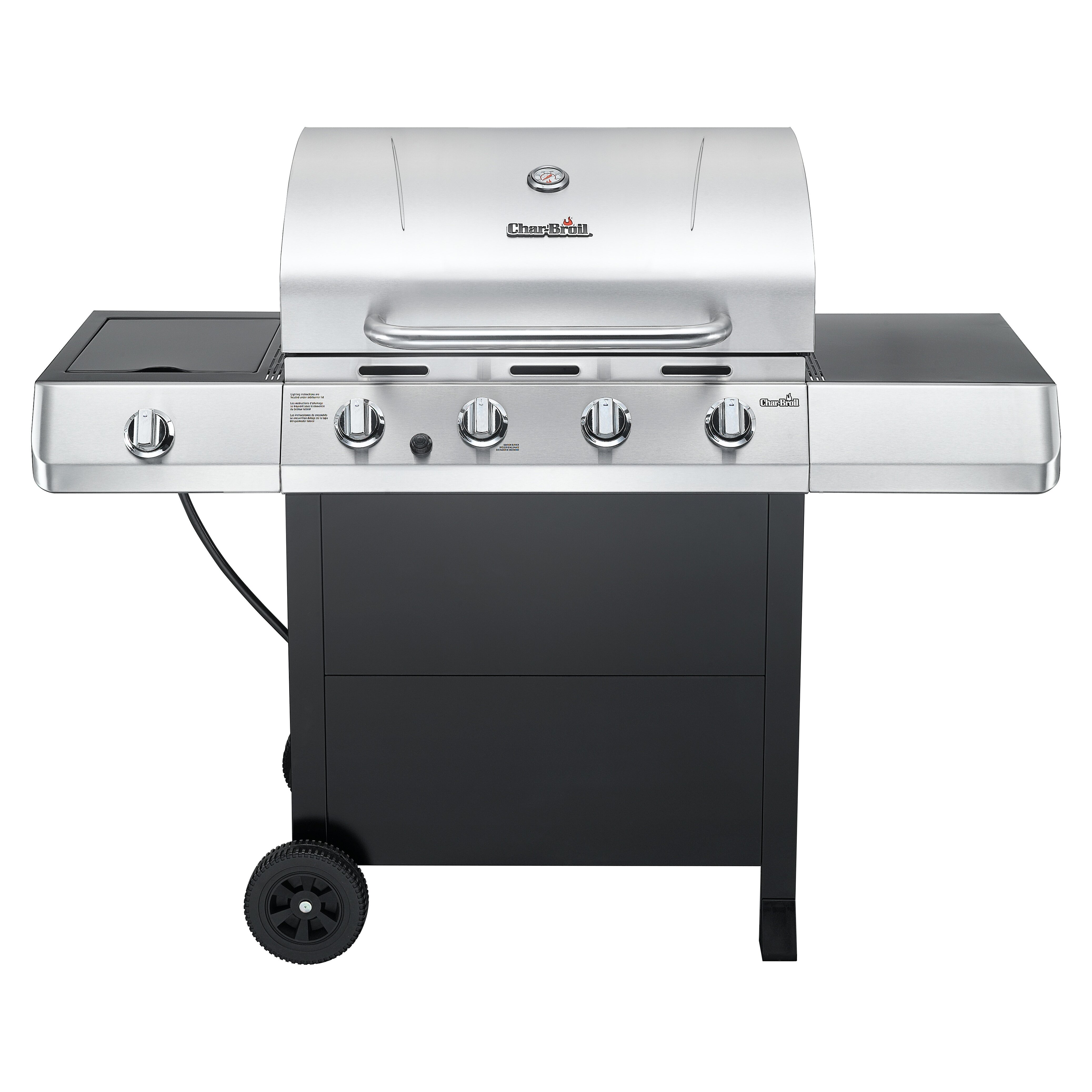 Sides On The Grill: CharBroil Classic 4 Burner Grill With Side Burner