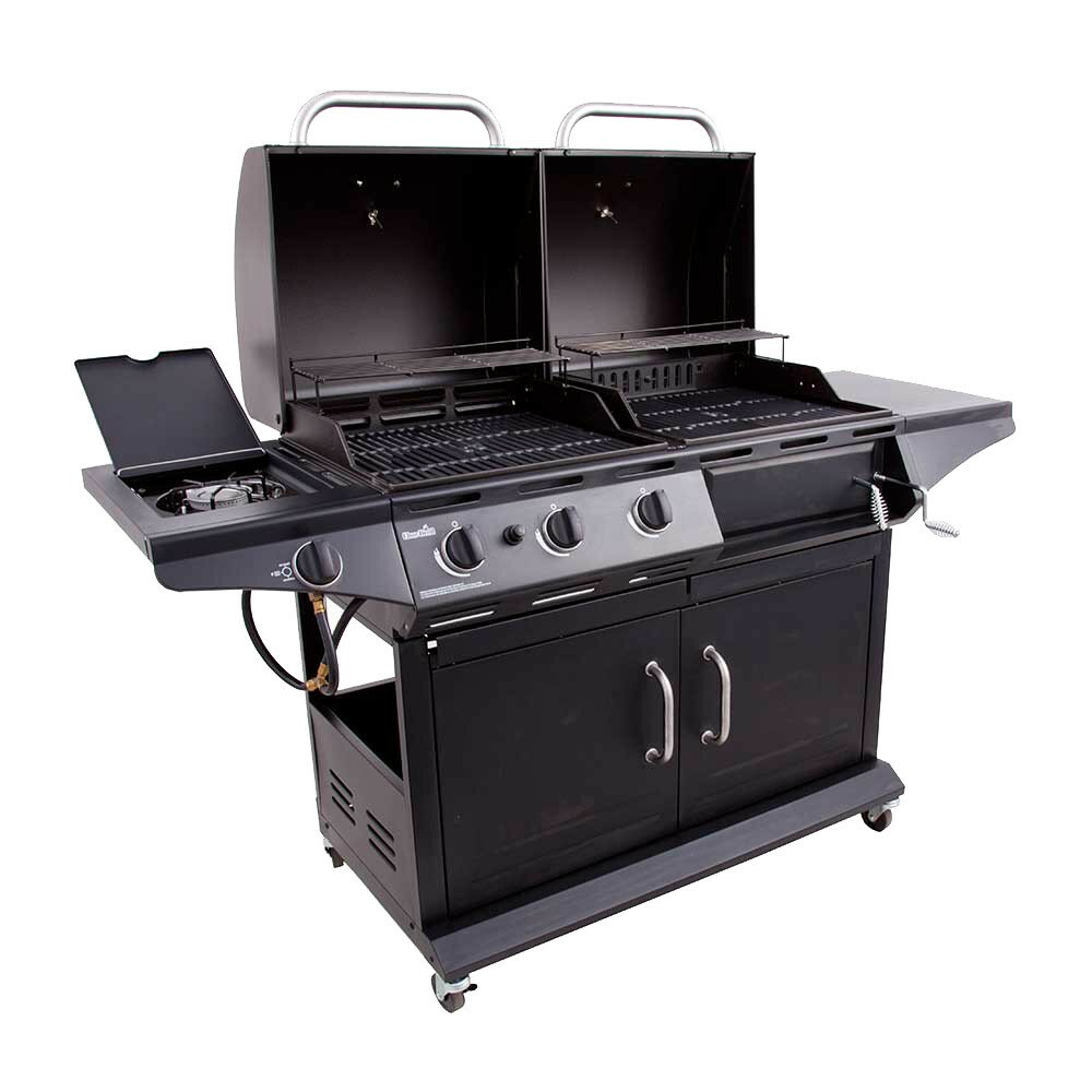 Gas Grill And Griddle Combo ~ In charcoal and burner gas deluxe combo grill with