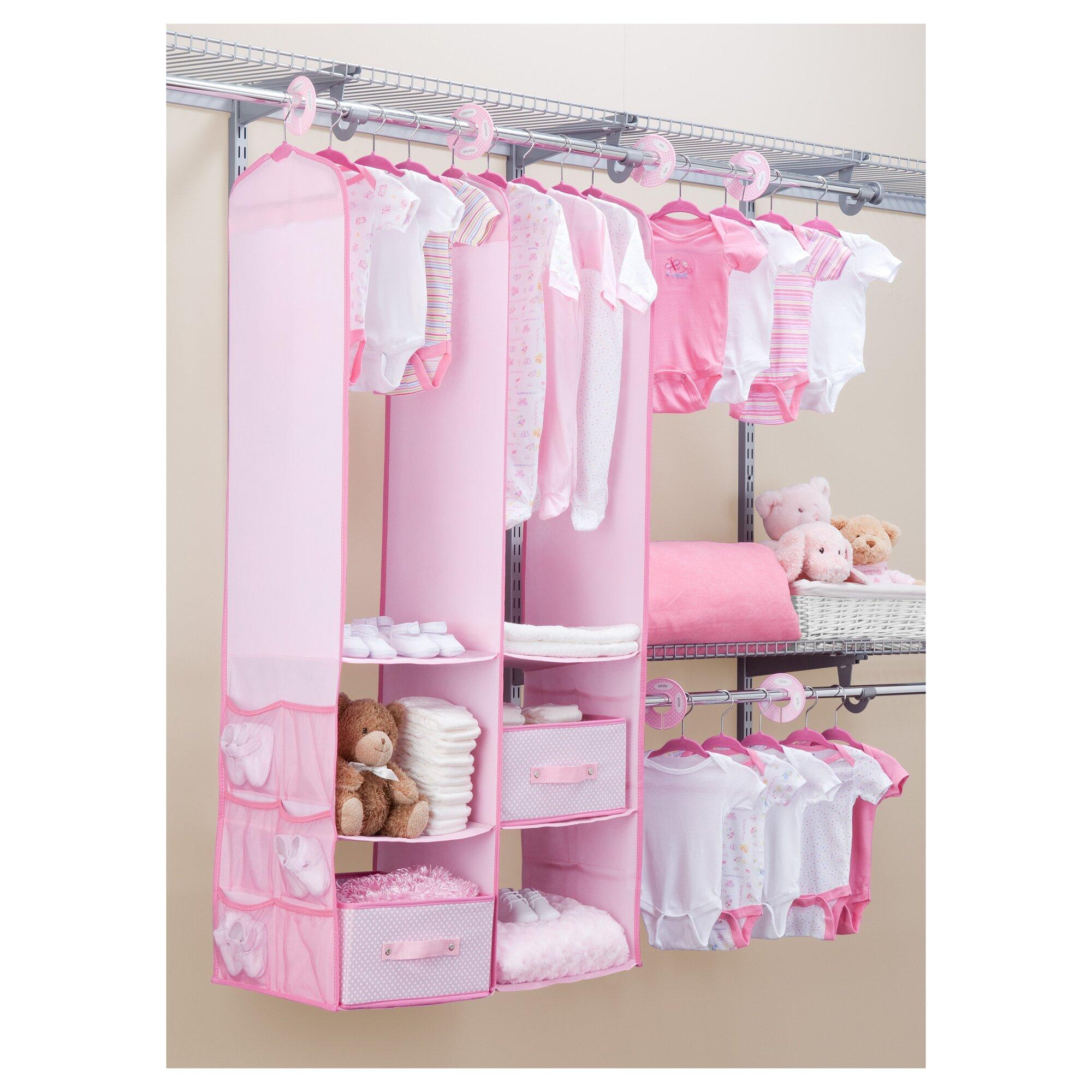 Baby Closet Organizer: Delta Children Deep Nursery Closet Organizer 24 Piece Set