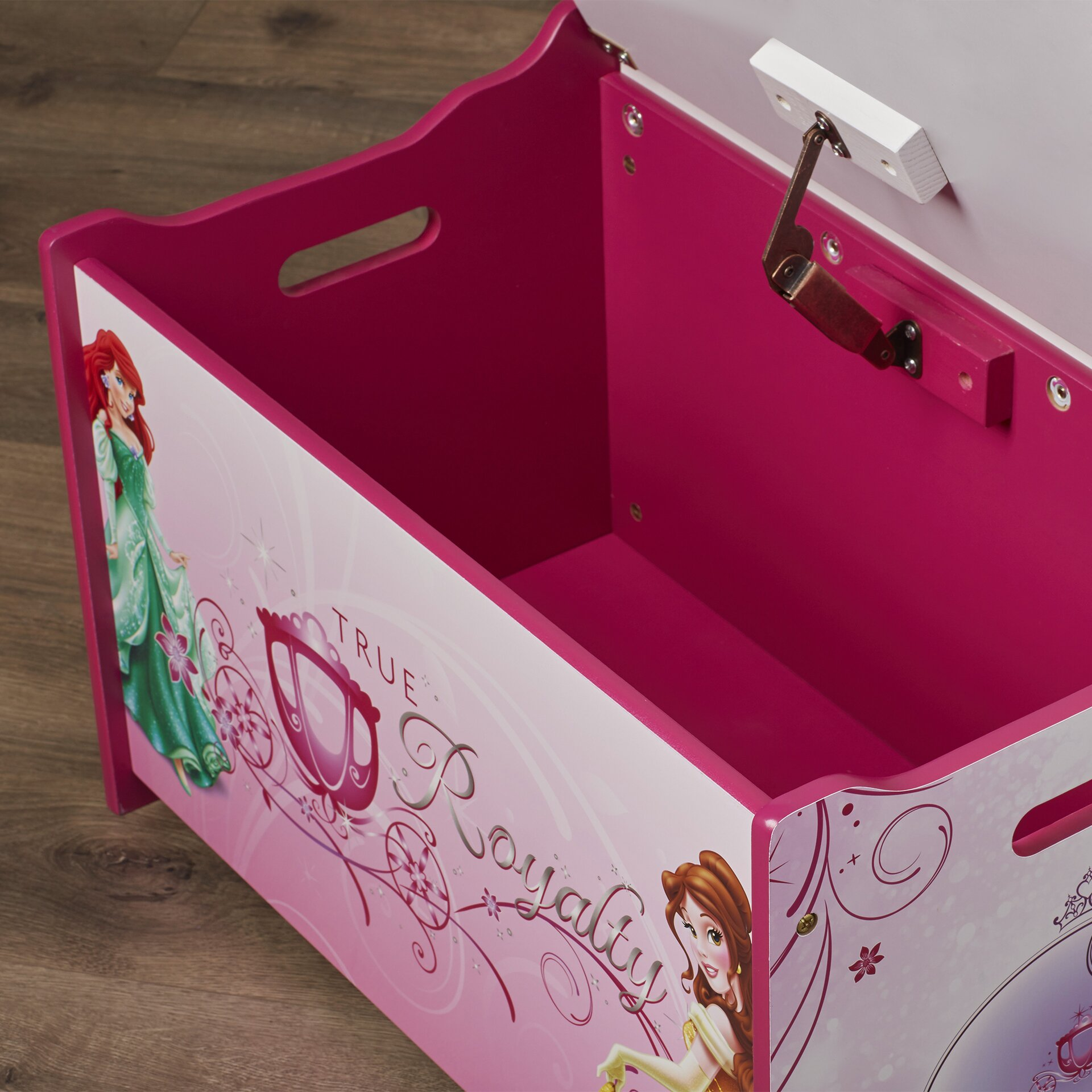 Princess Toys Box Storage Kids Girls Chest Bedroom Clothes: Disney Princess Deluxe Toy Box