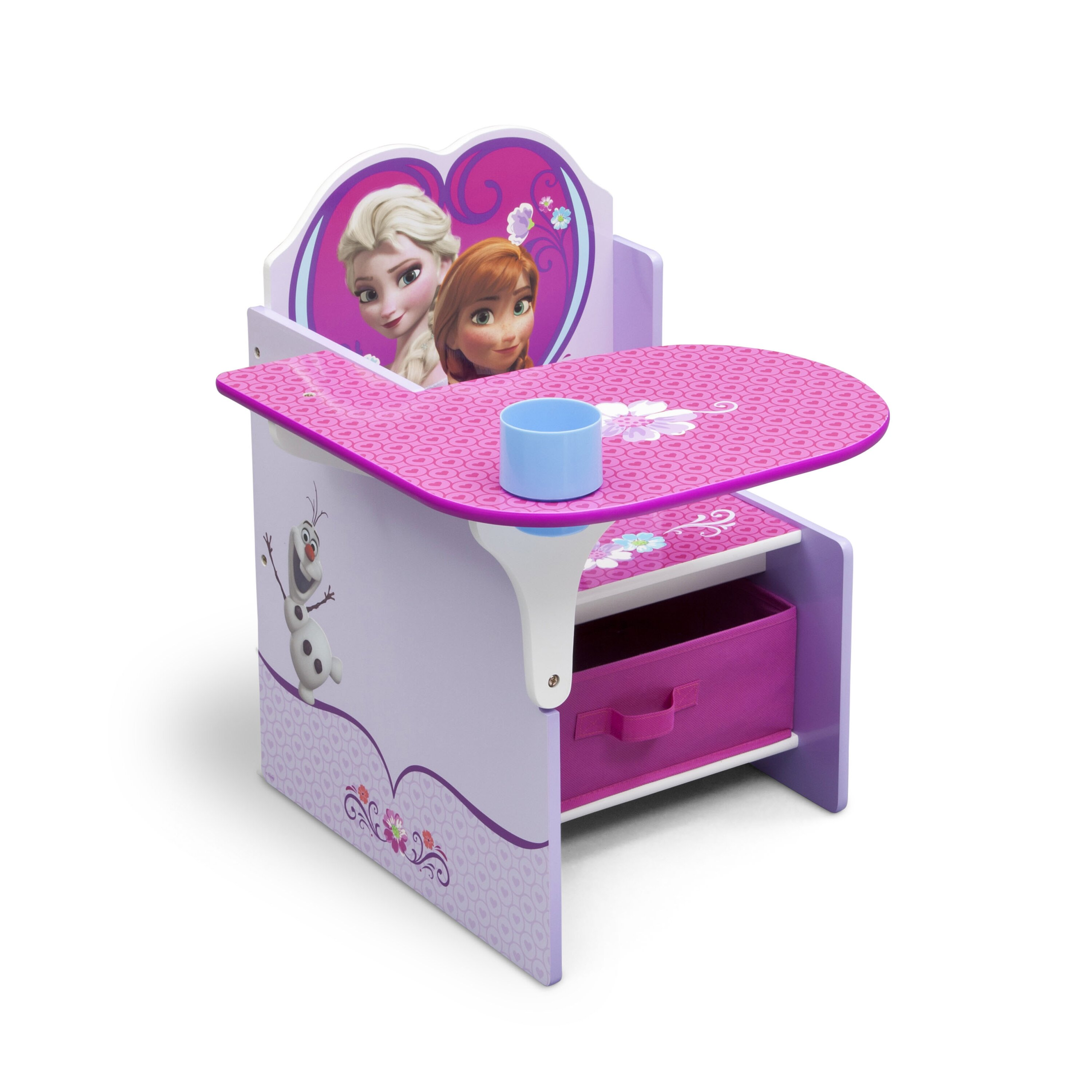 disney frozen kids desk chair with storage compartment and cup holder wayfair. Black Bedroom Furniture Sets. Home Design Ideas