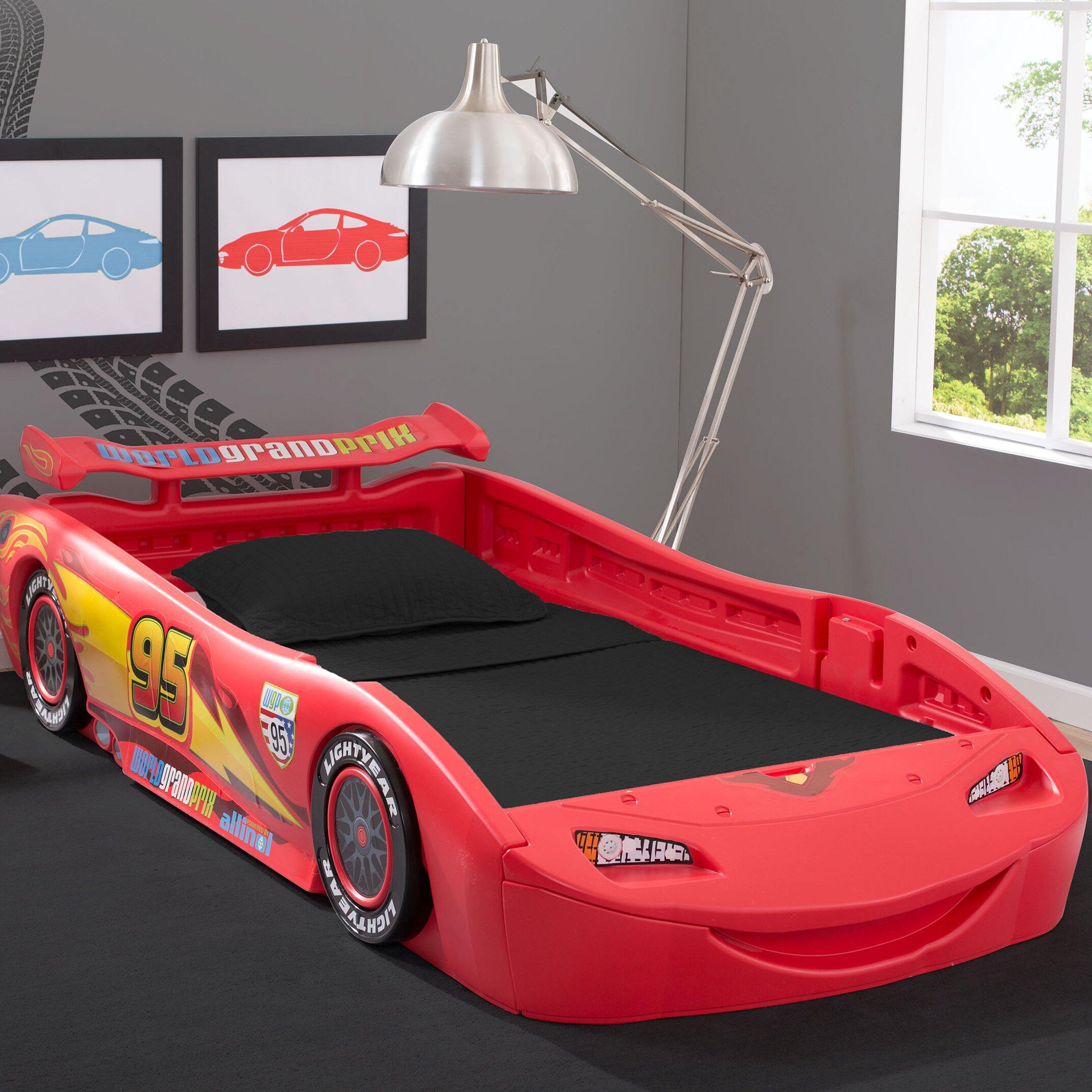 Disney Pixar Cars Twin Bed With Lights Wayfair