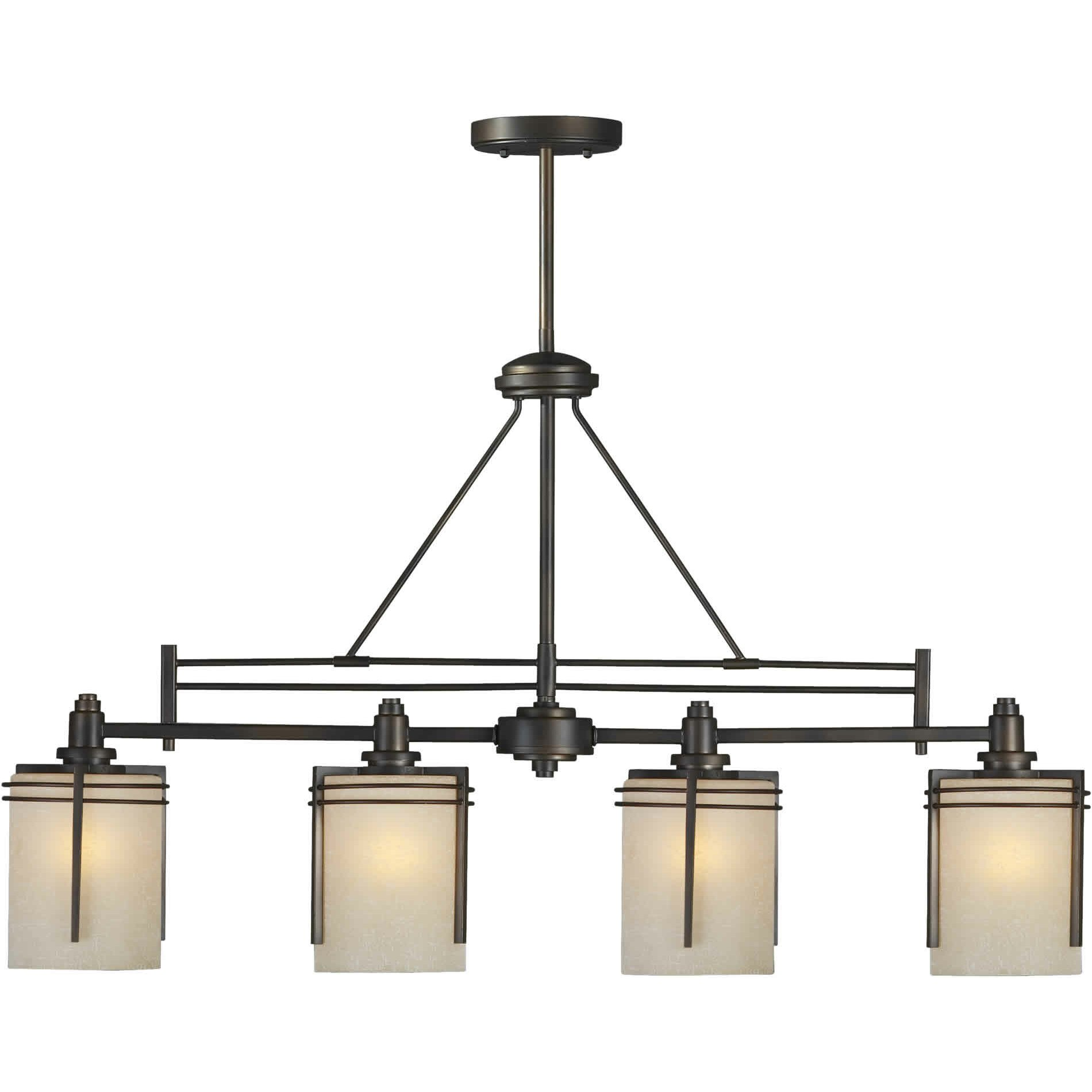 Kitchen Island Pendant Lighting: Forte Lighting 4 Light Kitchen Island Pendant & Reviews