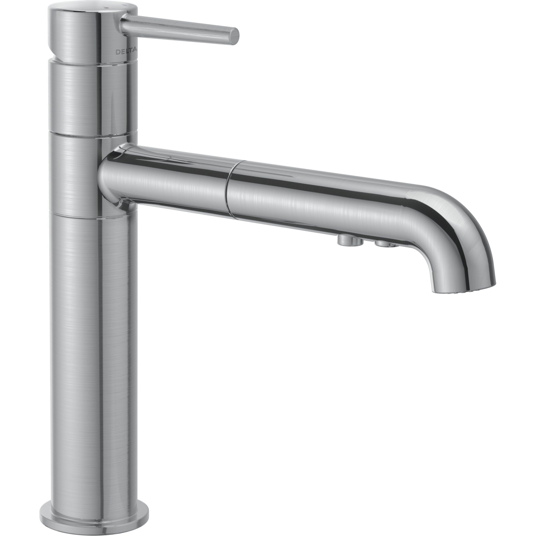 Saxony single handle pullout kitchen faucet