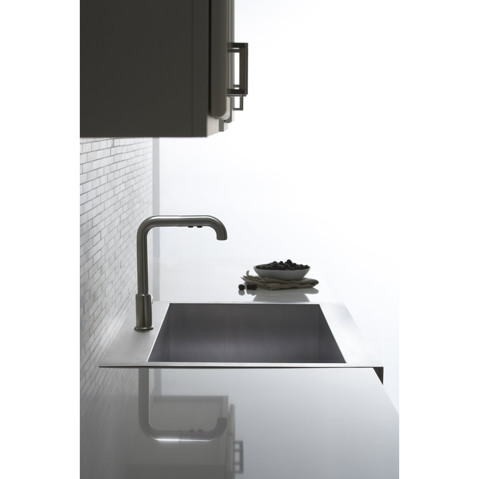 Kohler Stainless Apron Sink : ... Stainless Steel Kitchen Sink with Shortened Apron-Front for 36