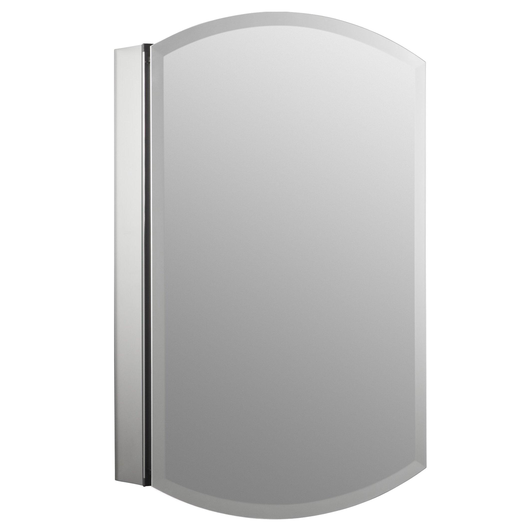 kohler archer 20 x 31 aluminum wall mount medicine cabinet with mirrored door reviews wayfair. Black Bedroom Furniture Sets. Home Design Ideas