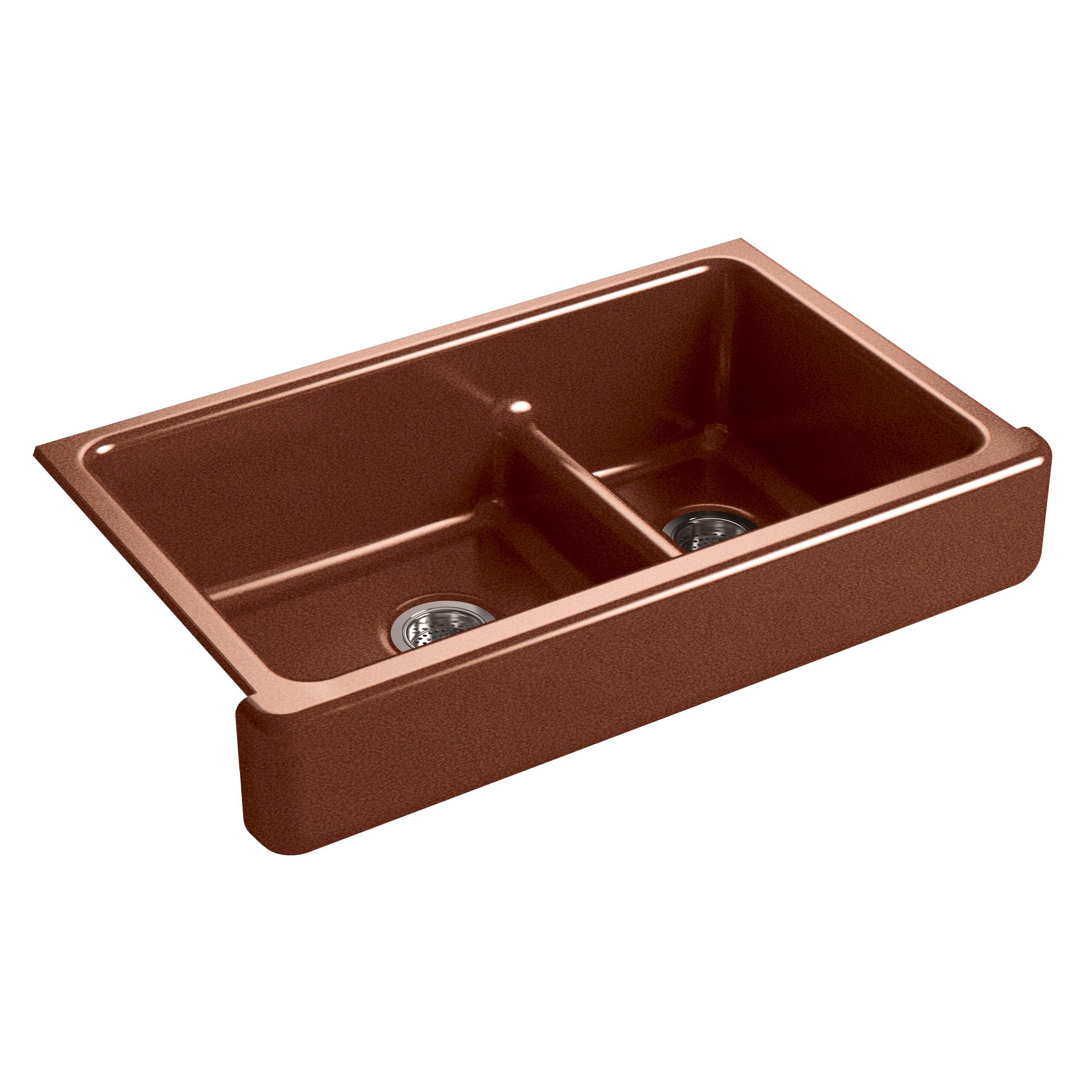 Kohler Sink Mats : ... Mount Large/Medium Double-Bowl Kitchen Sink with Short Apron by Kohler