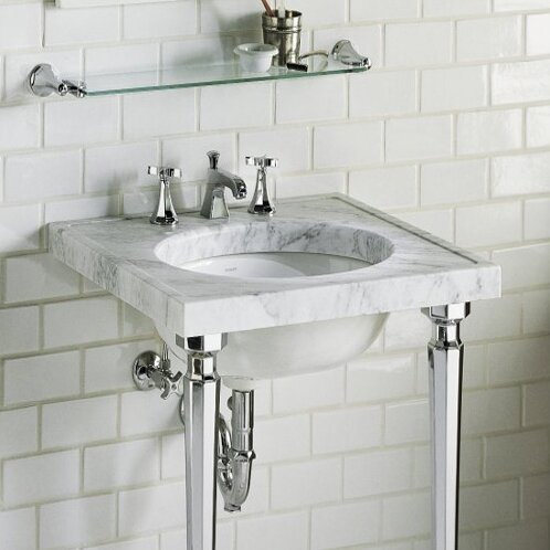Kathryn Marble Console Tabletop With Widespread Faucet Holes And Cut For K 2205 G Or K 2210 G