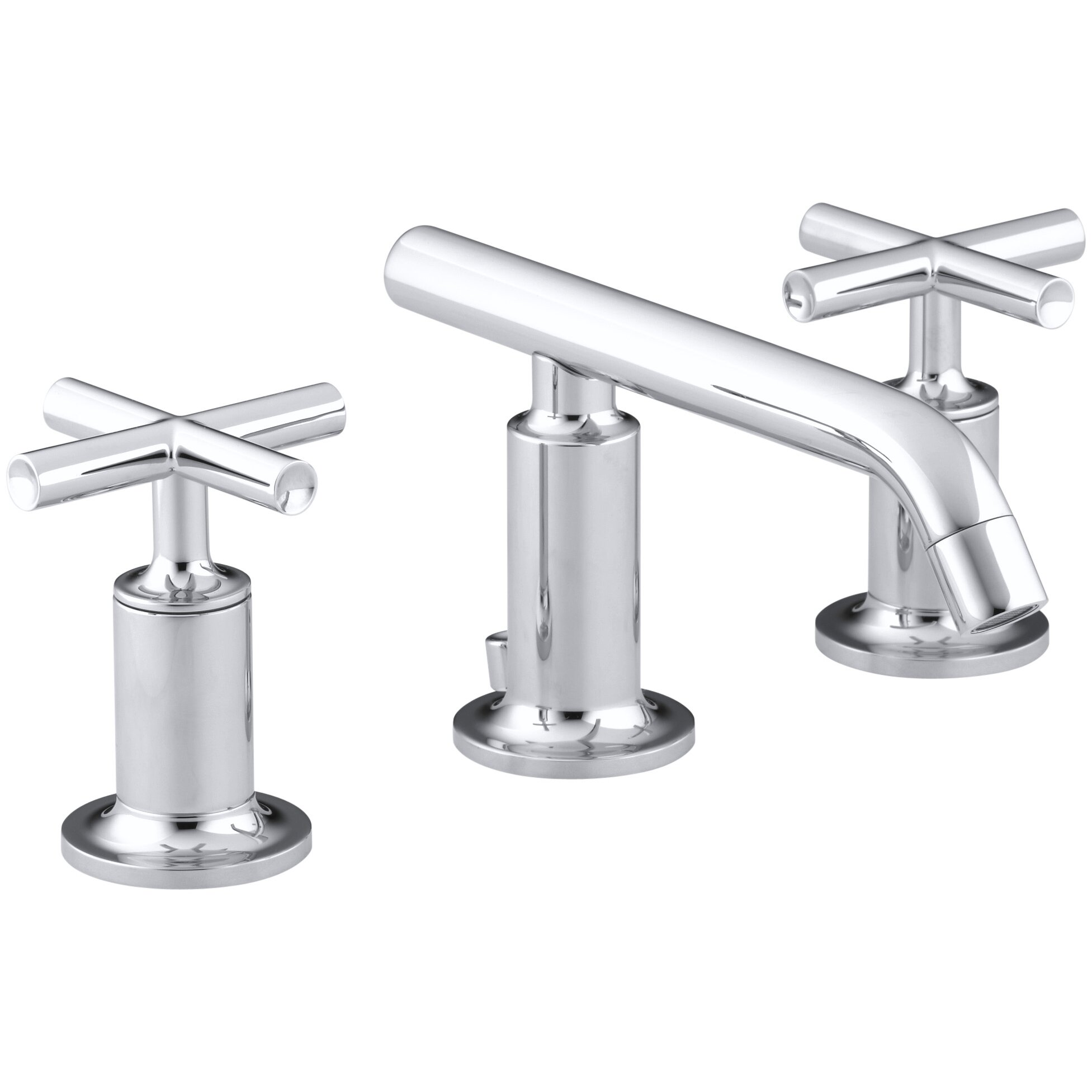 Purist Widespread Bathroom Sink Faucet with Low Cross Handles and Low ...