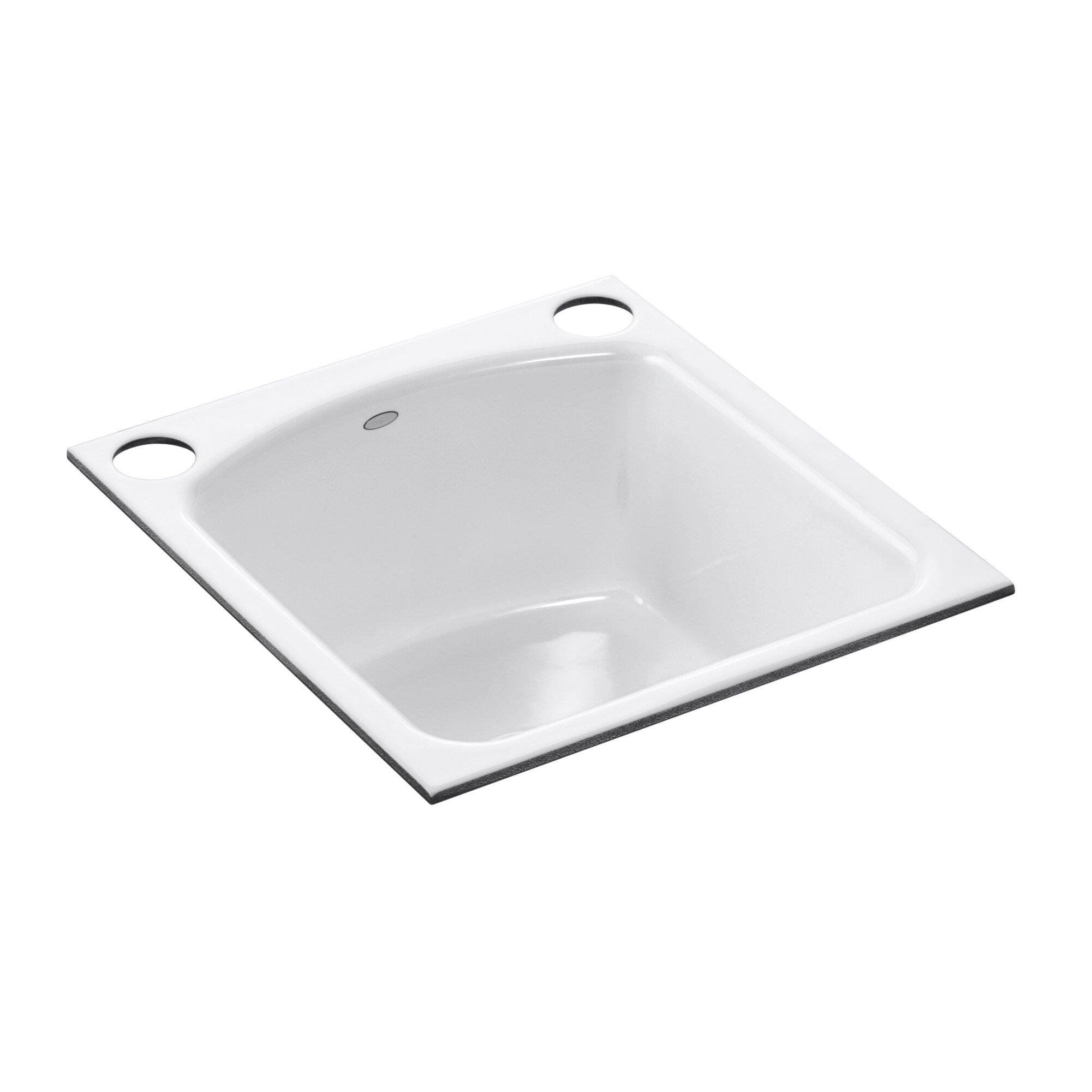 Kohler Bar Sink Faucet : Kohler Napa Under-Mount Bar Sink with 2 Oversize Faucet Holes ...