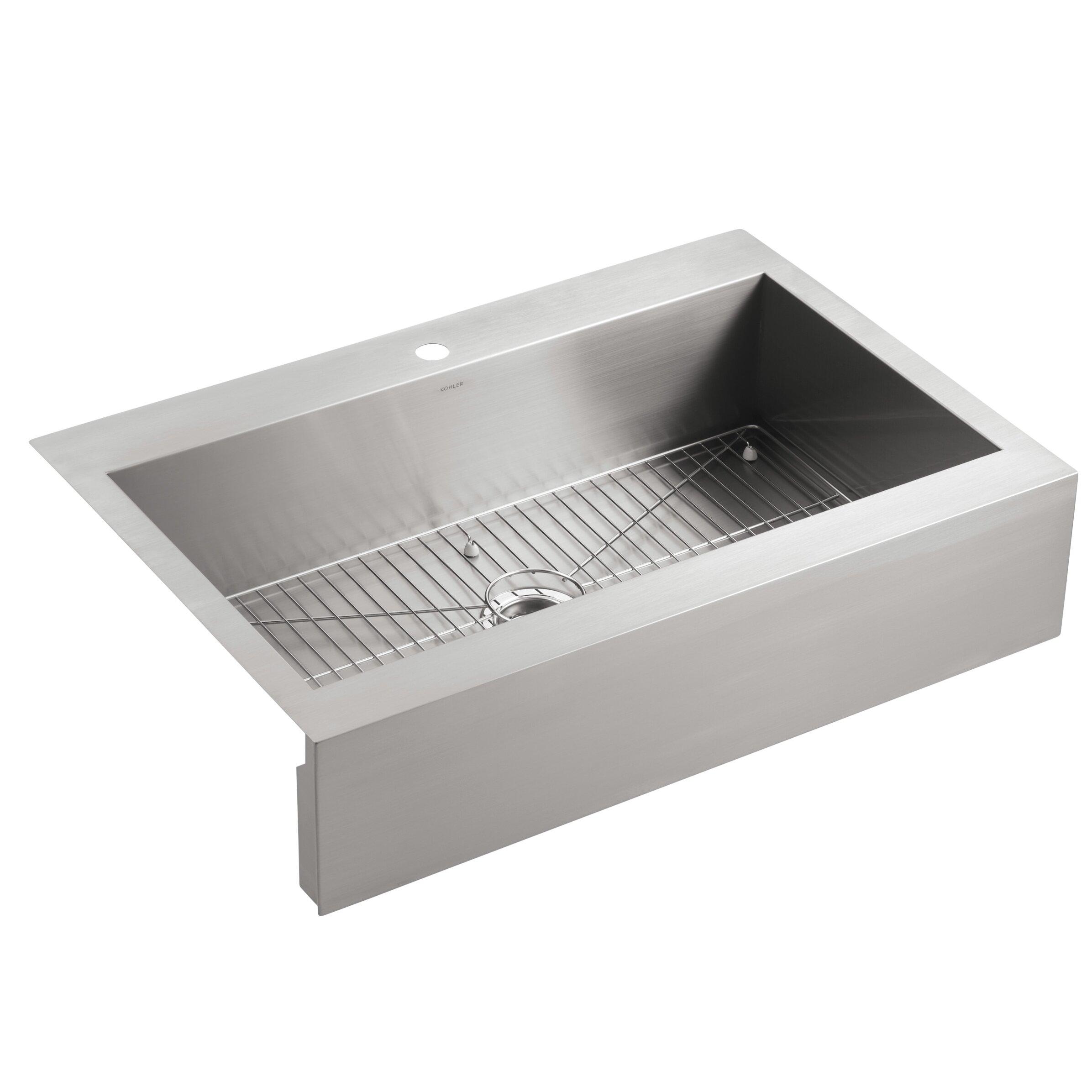 Kohler Sink Mats : ... Steel Kitchen Sink with Shortened Apron-Front for 36