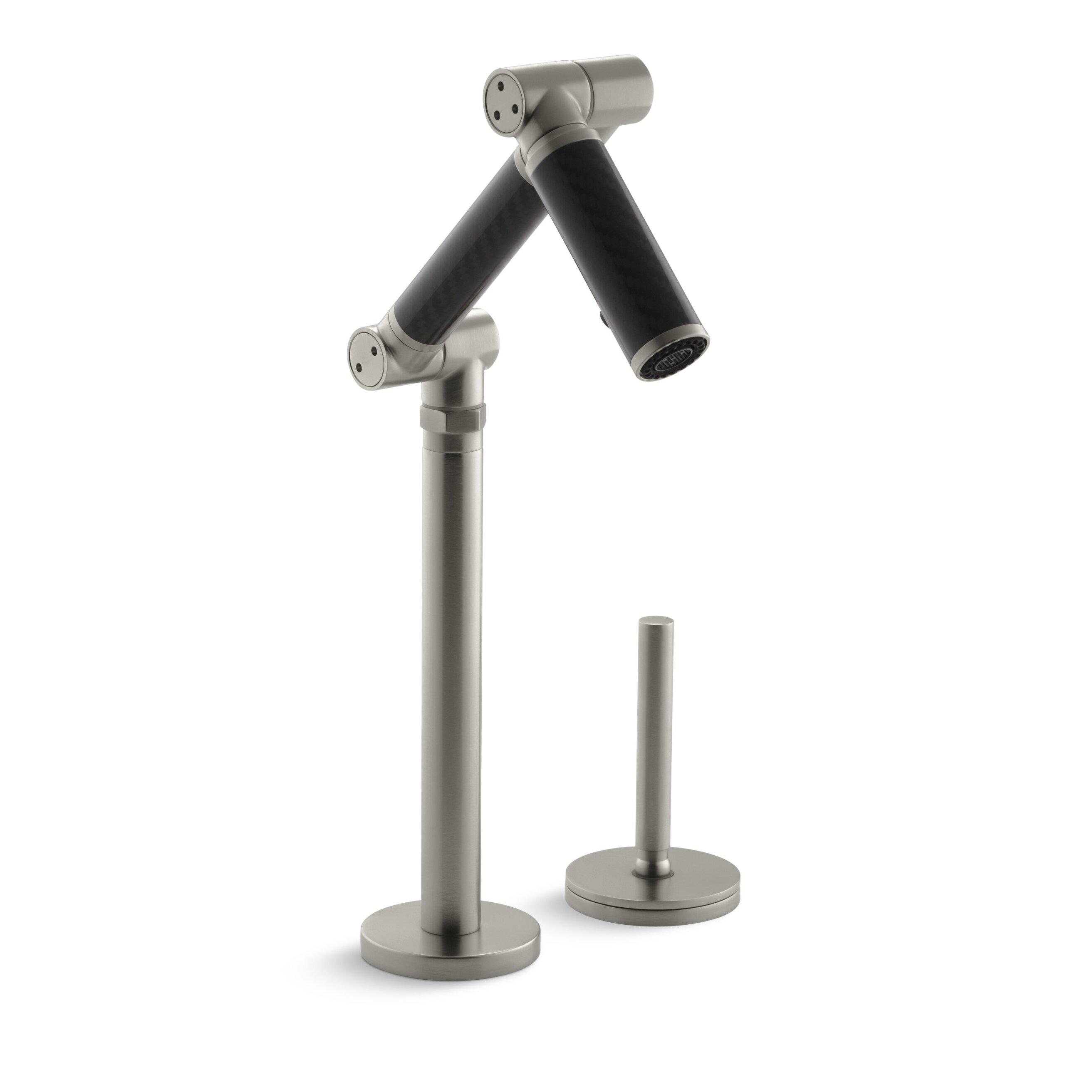 Kohler Black Faucet : Kohler Karbon Articulating Deck-Mount Bathroom Sink Faucet with Black ...