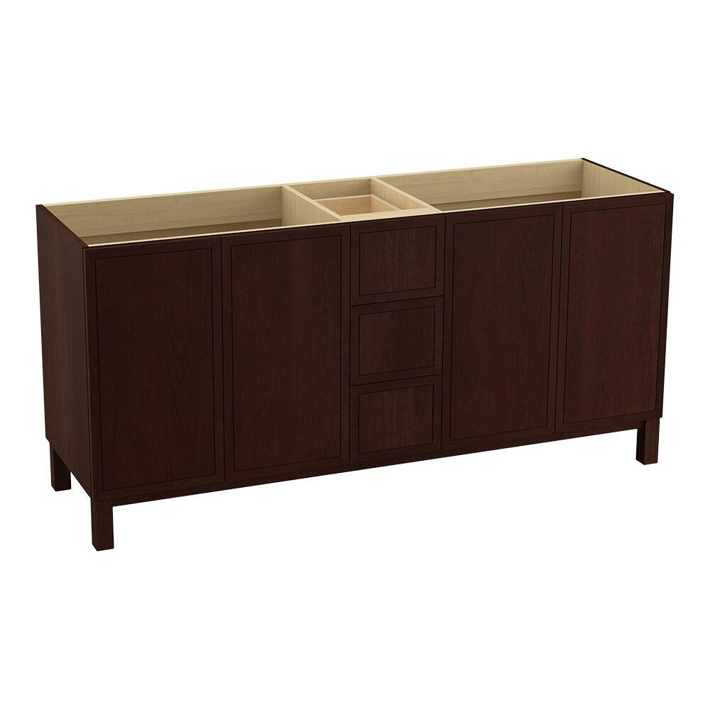 Jacquard 72 Vanity Base With Furniture Legs 4 Doors And 3 Drawers Split Top Drawer Wayfair
