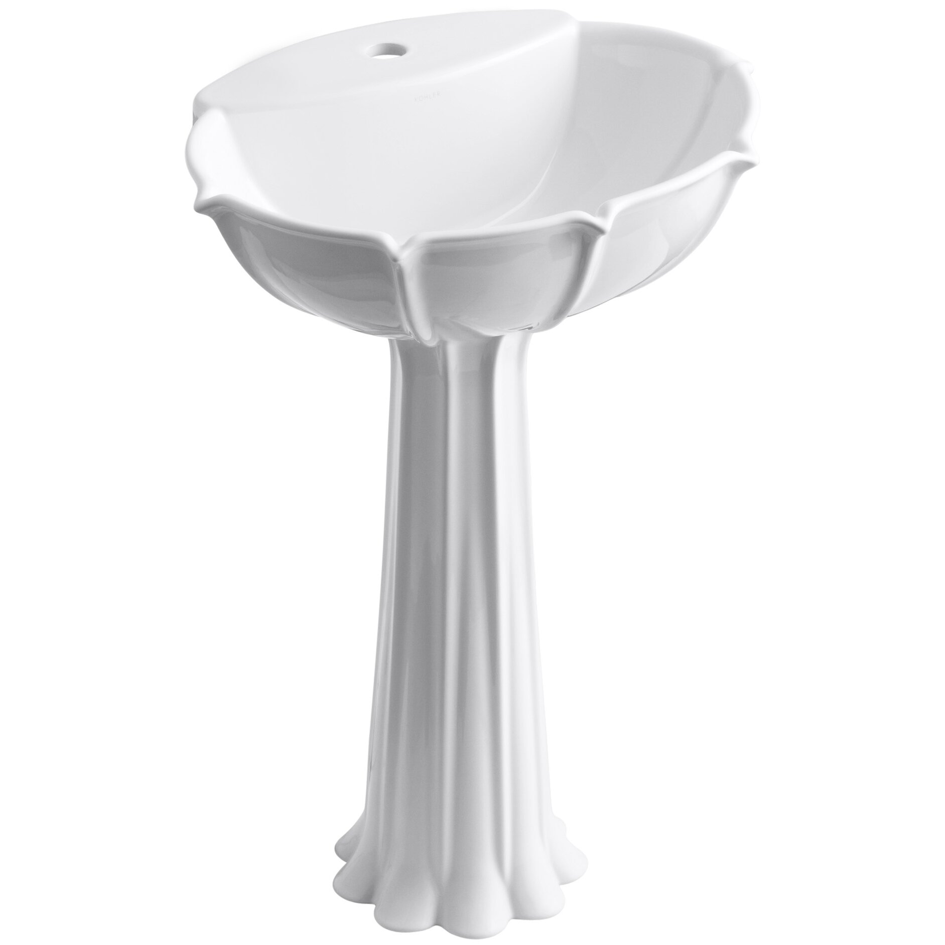 Single Hole Pedestal Sink : Bathroom Vanities Bathroom Sinks Bathroom Faucets Bathtubs Showers ...