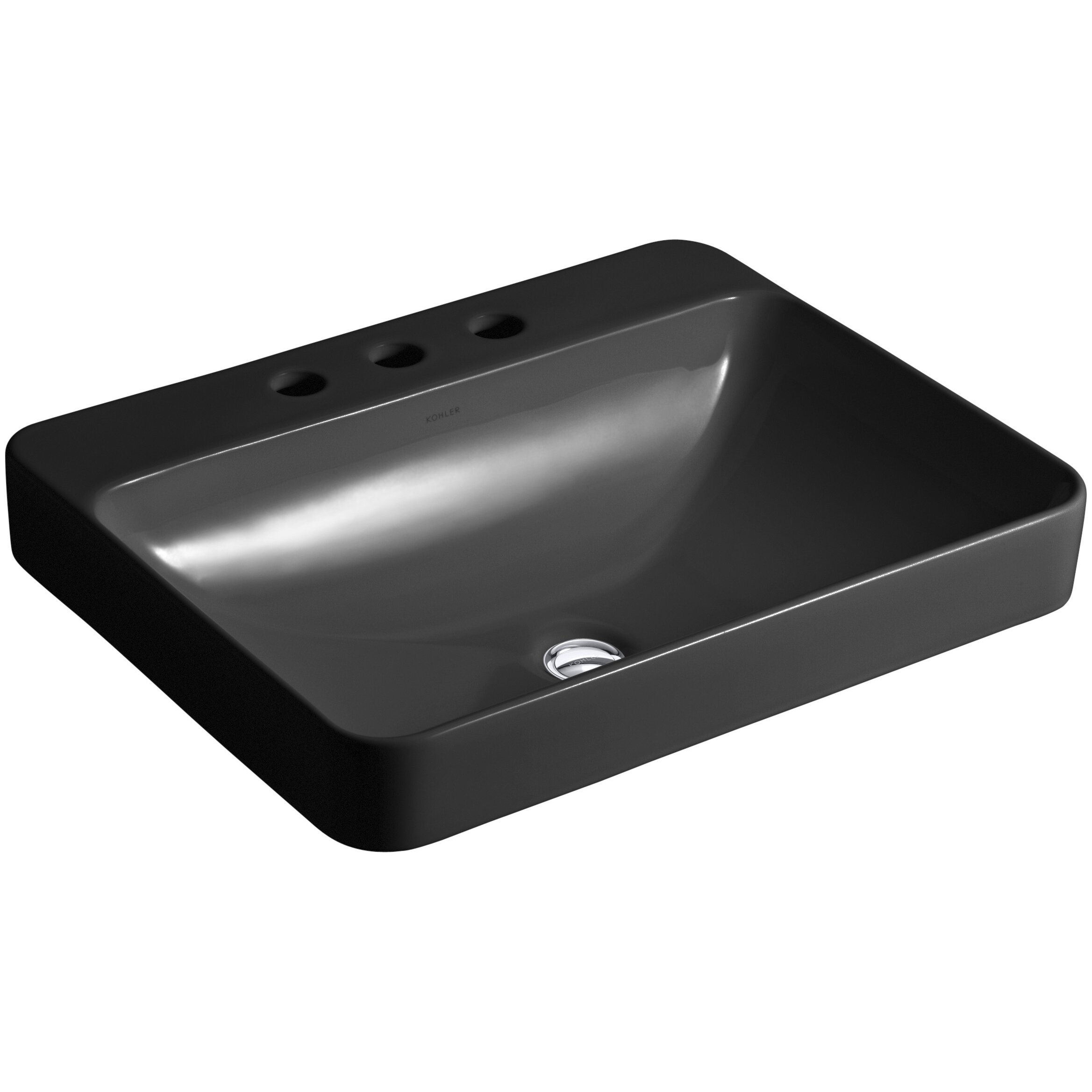 Kohler Vox Sink : Kohler Vox Rectangular Vessel Above-Counter Bathroom Sink & Reviews ...