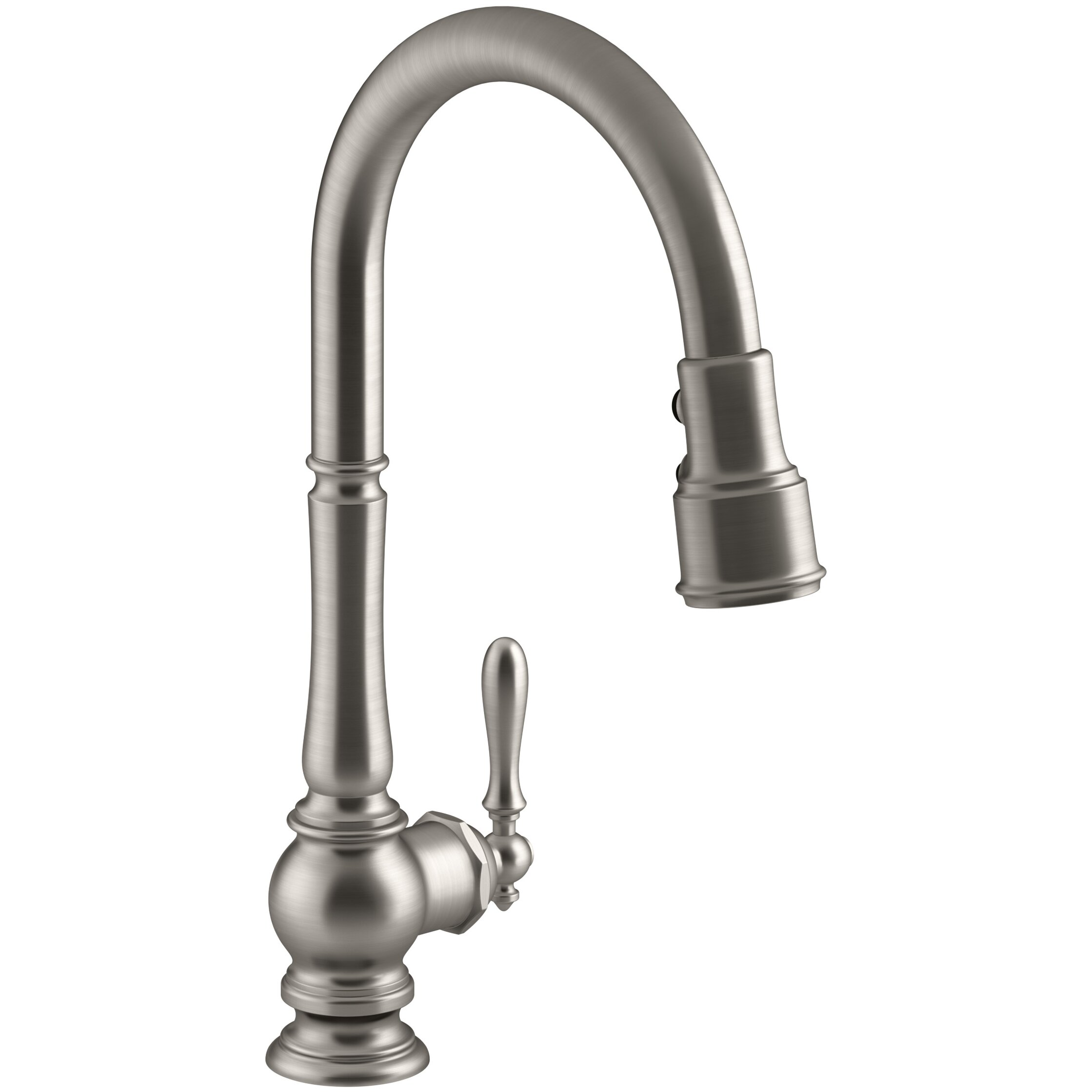 Kohler Faucet Reviews : Kohler Artifacts Single-Hole Kitchen Sink Faucet with Pull-Down Spout ...