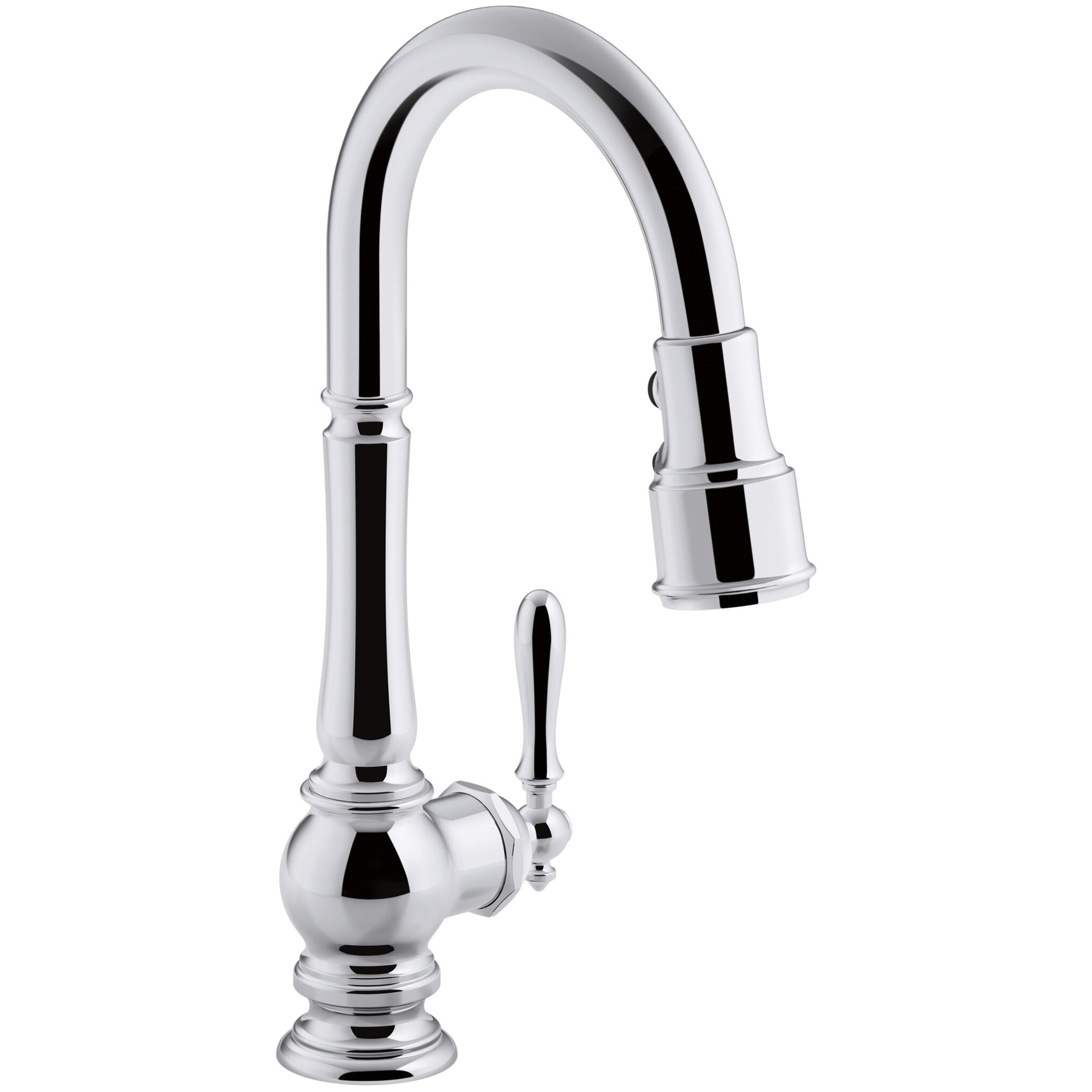 Kohler Artifacts Single-Hole Kitchen Sink Faucet with Pull-Down Spout ...