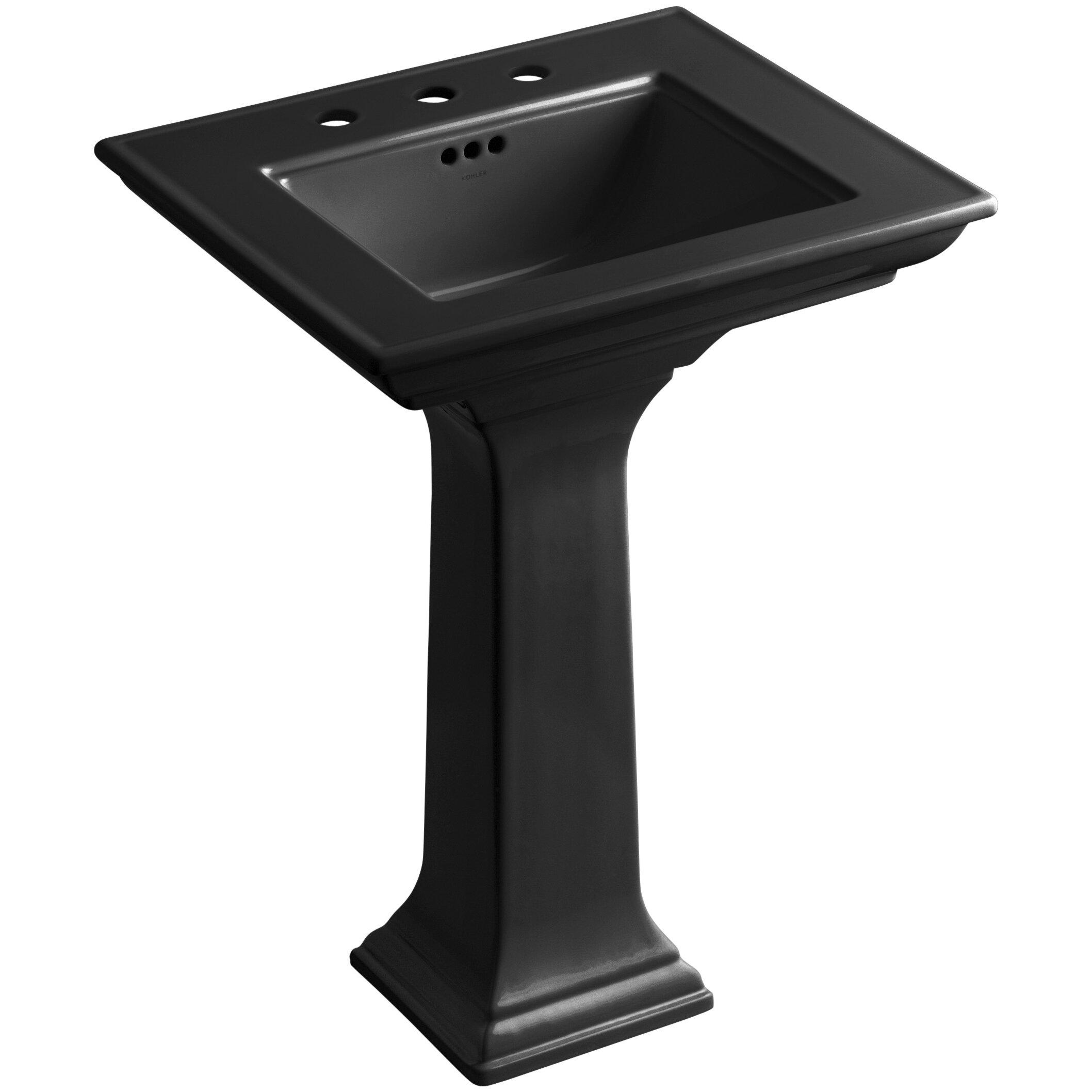 kohler memoirs pedestal sink 24 by memoirs stately 24 quot pedestal bathroom sink with 8