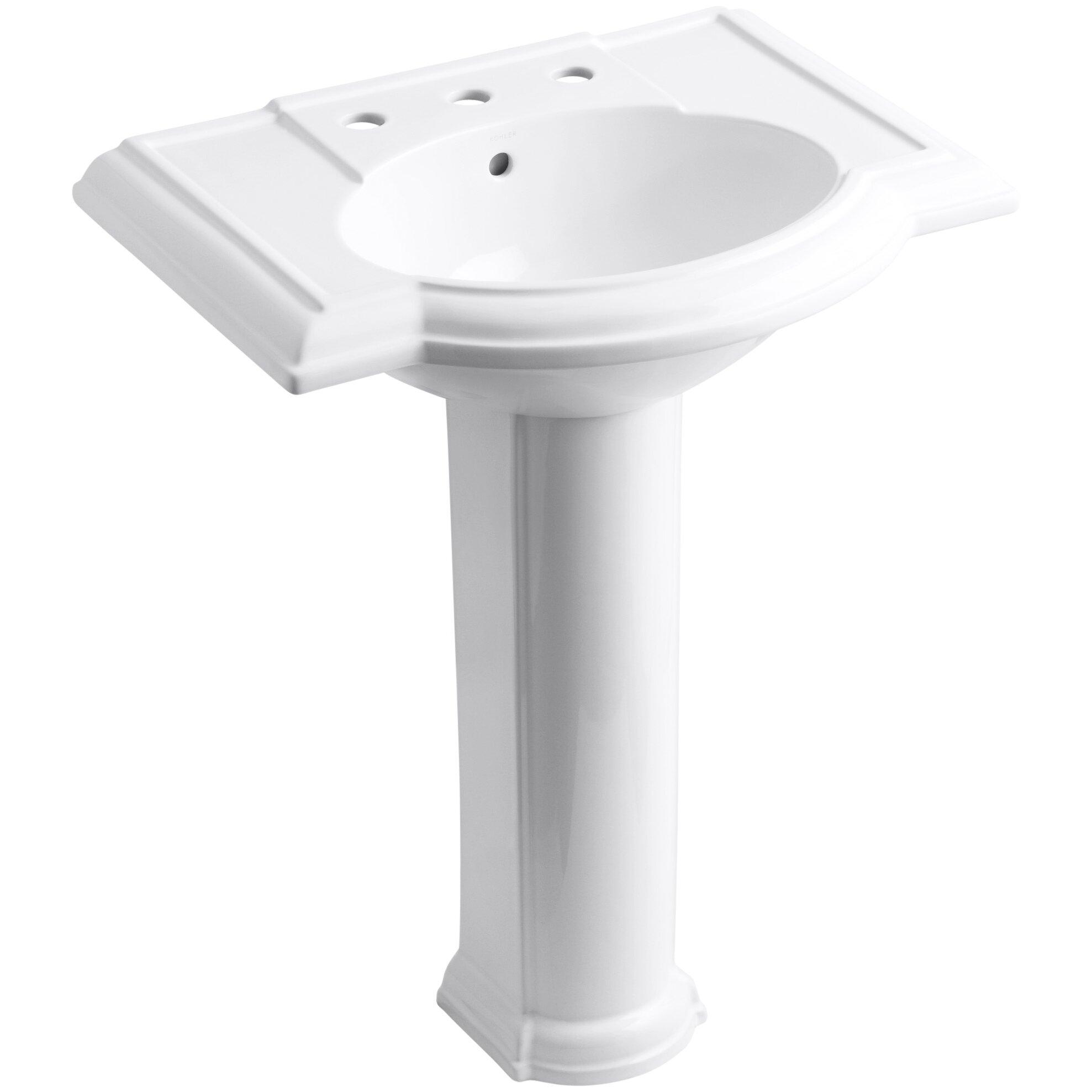 Kohler Devonshire 27 Pedestal Bathroom Sink With 8
