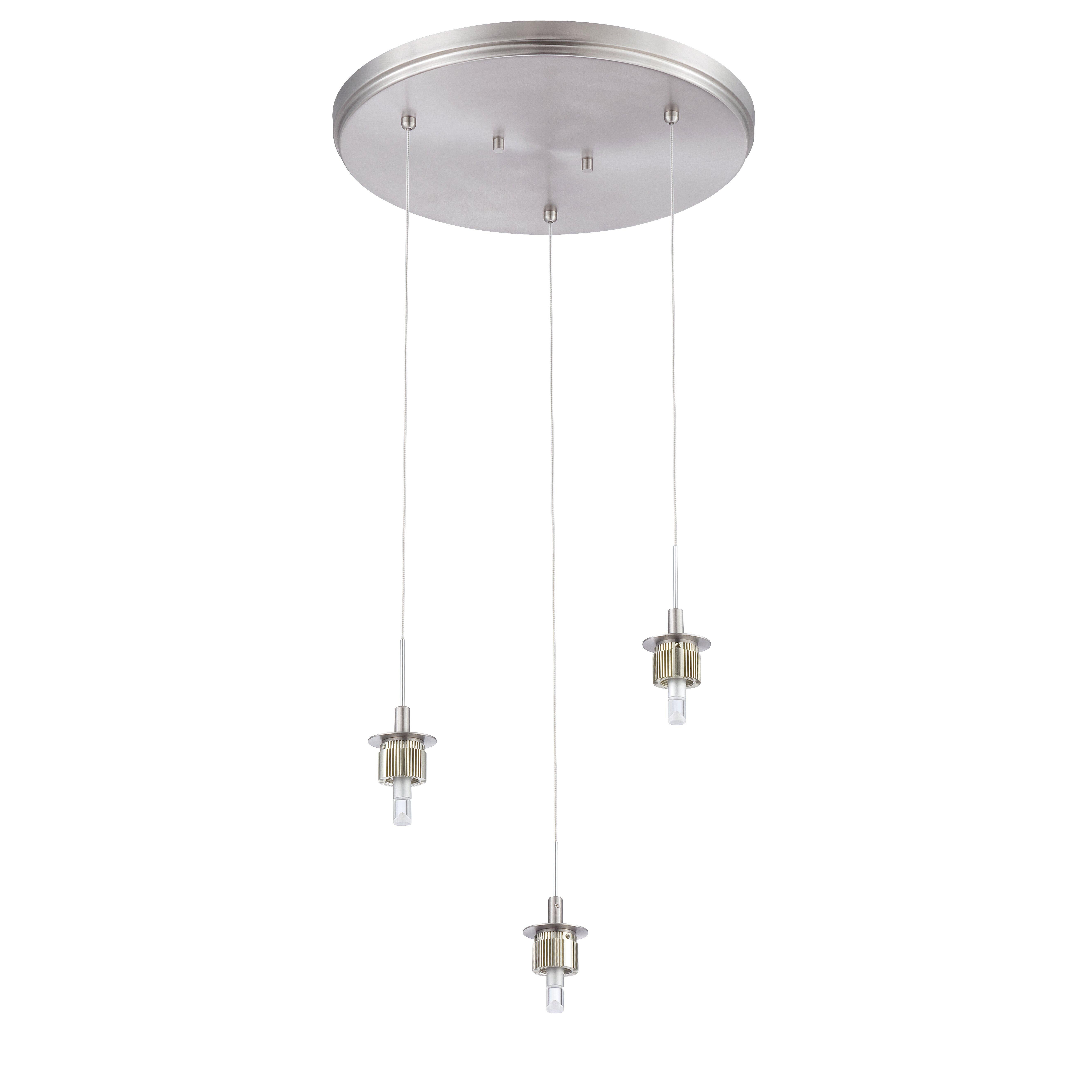 philips consumer luminaire sparkle 3 light pendant allmodern. Black Bedroom Furniture Sets. Home Design Ideas