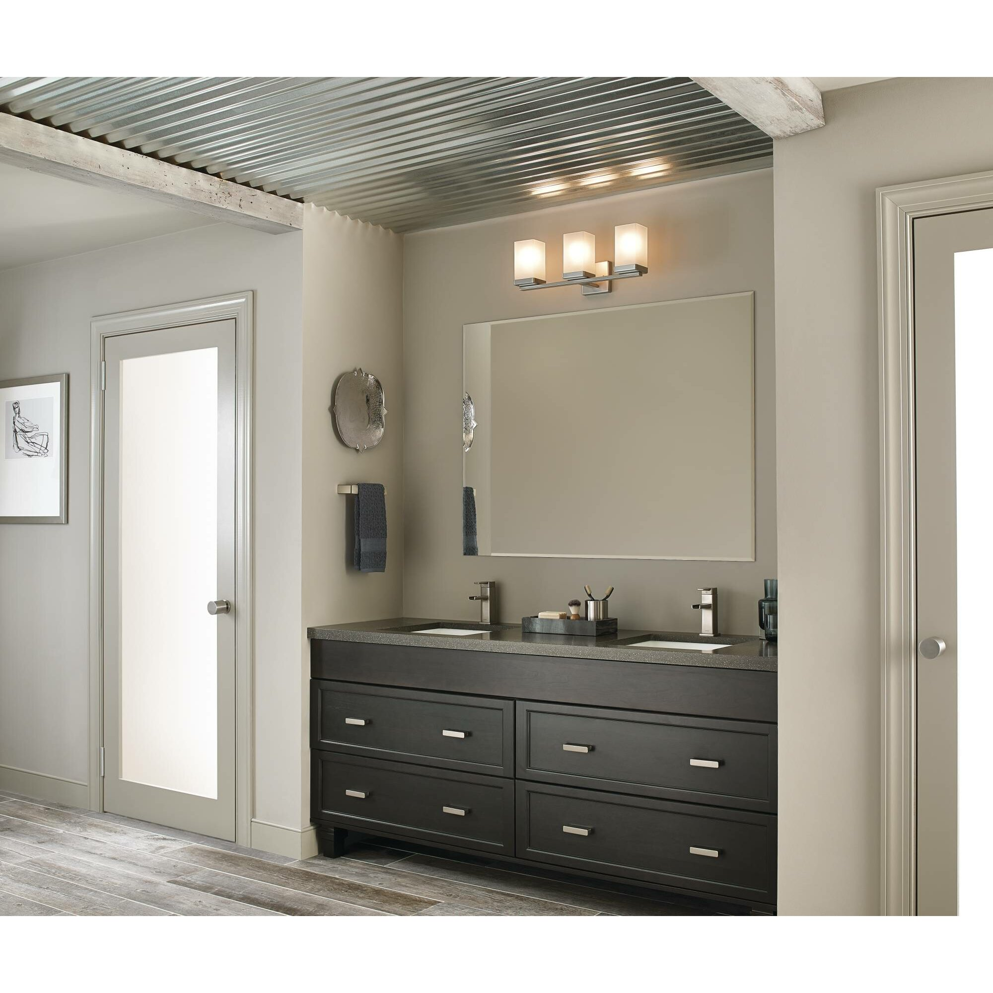Moen Yb8863ch 90 Degree Chrome Vanity Light Bathroom Lighting: Moen 90 Degree 3 Light Bath Vanity Light & Reviews