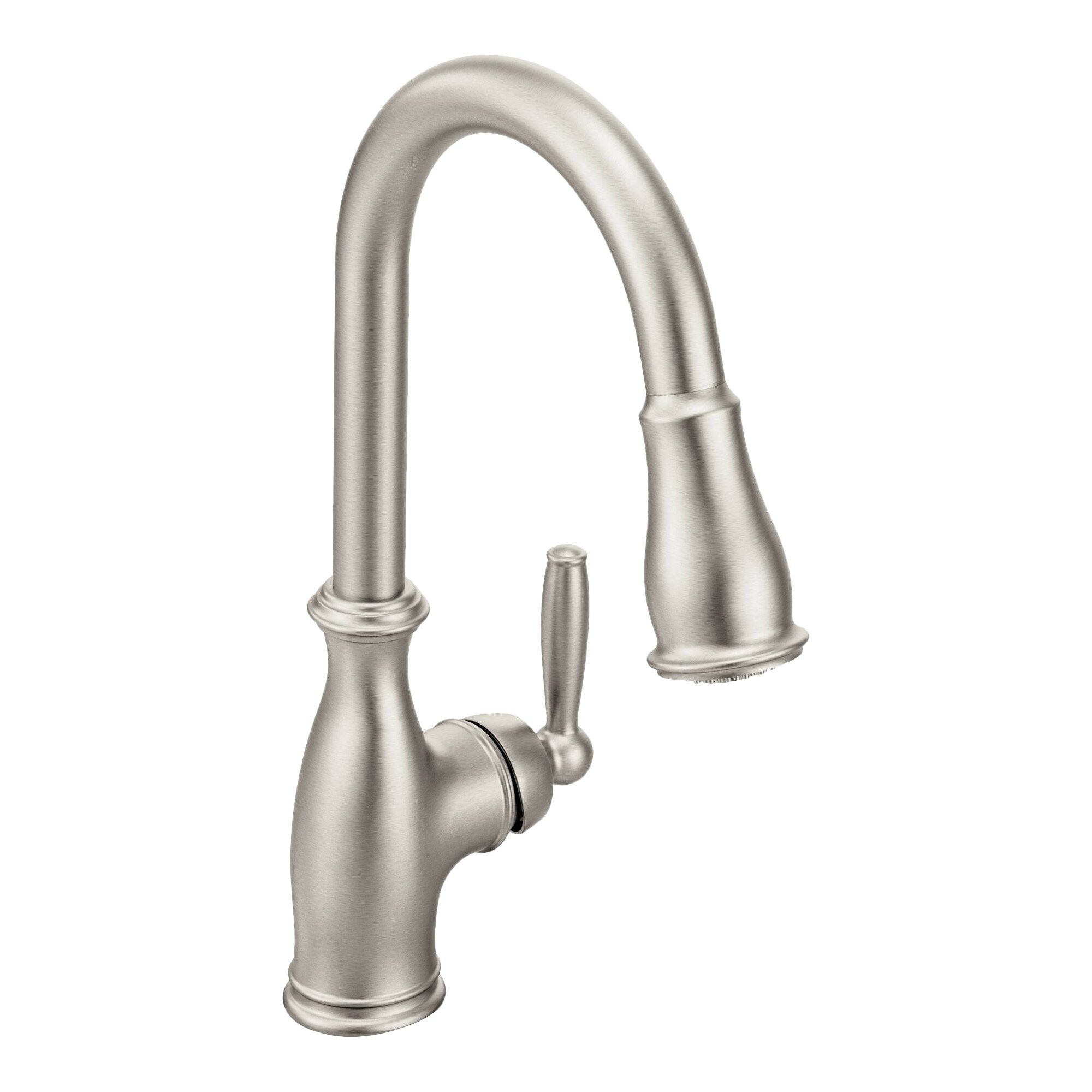 moen brantford single handle kitchen faucet amp reviews moen anabelle kitchen faucet ca87003srs review youtube