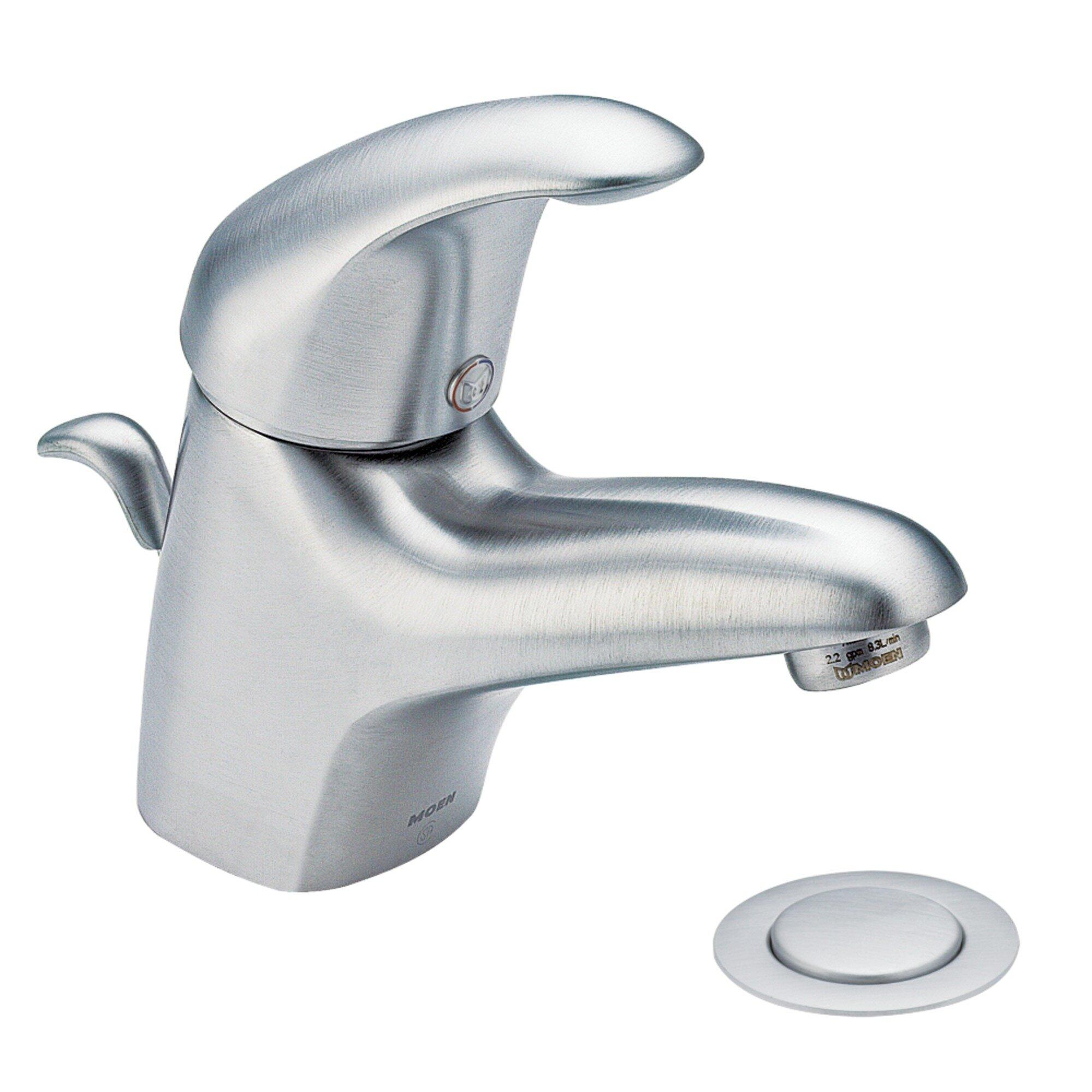 Moen single hole bathroom faucet my web value for Moen one handle bathroom faucet