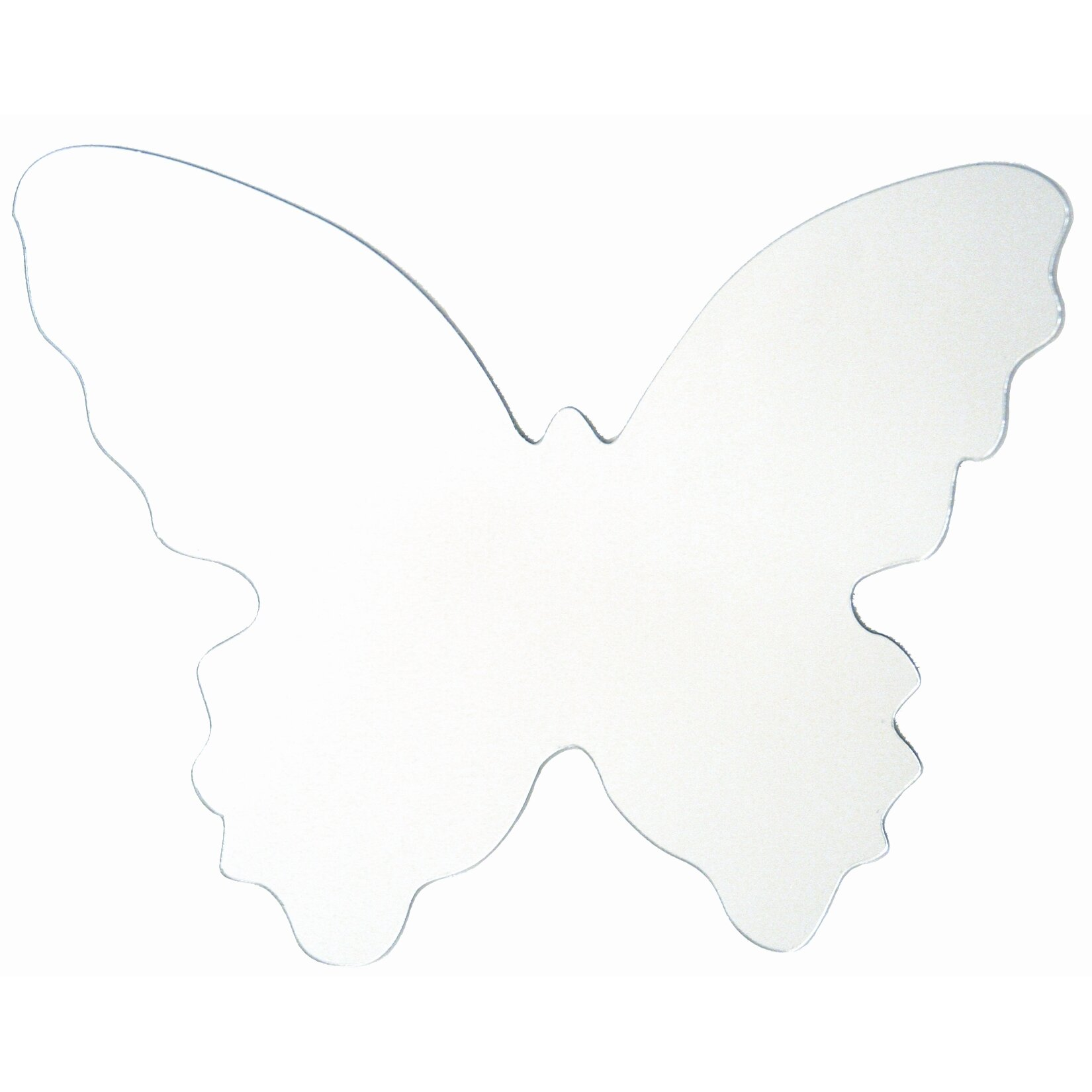 wall mirrors butterfly wall decal wayfair butterfly peel amp stick mirror large wall sticker wall
