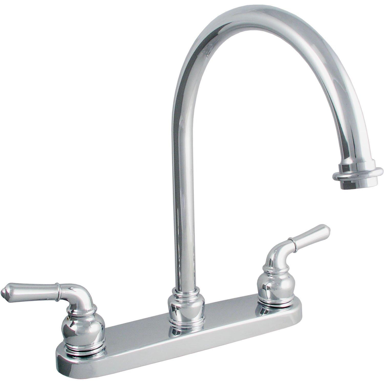 double handle centerset kitchen faucet wayfair