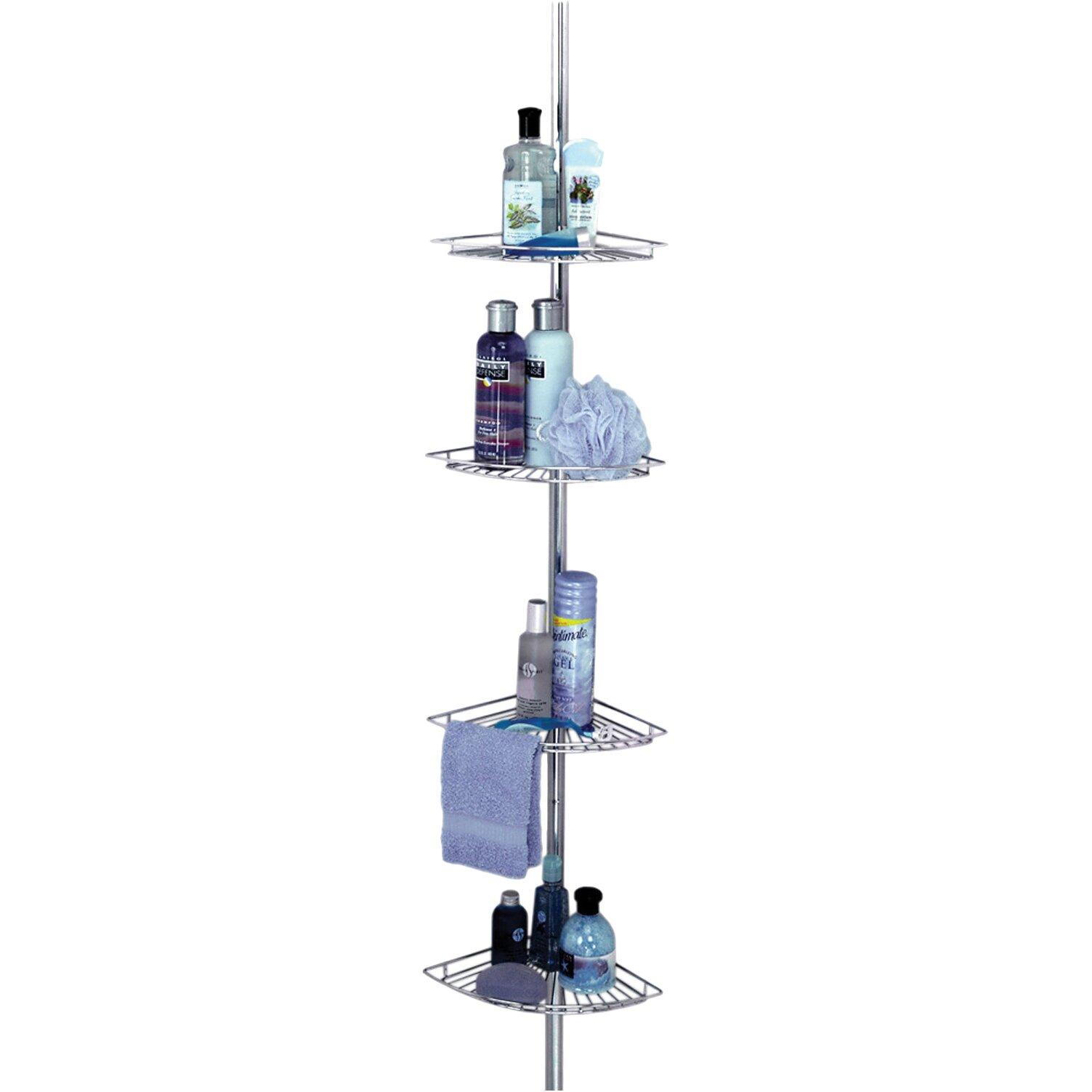 Zenith Pole Shower Caddy In Chrome & Reviews