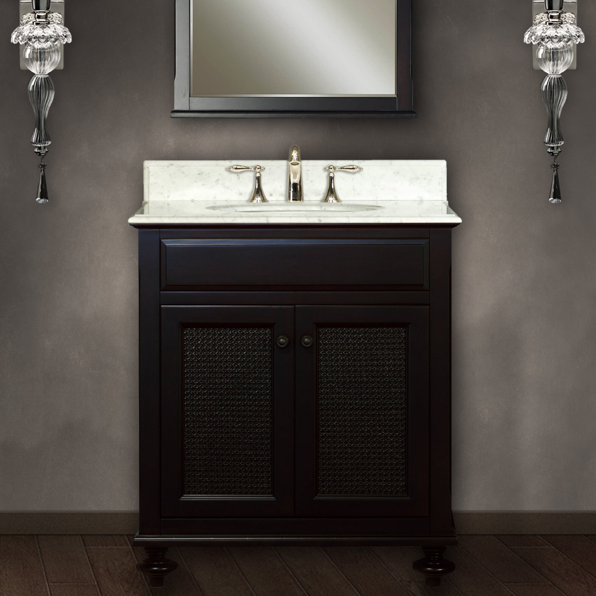 30 quot amare wall mounted bathroom vanity set with integrated sink by - Download Image 30 Inch Bathroom Vanity With Sink