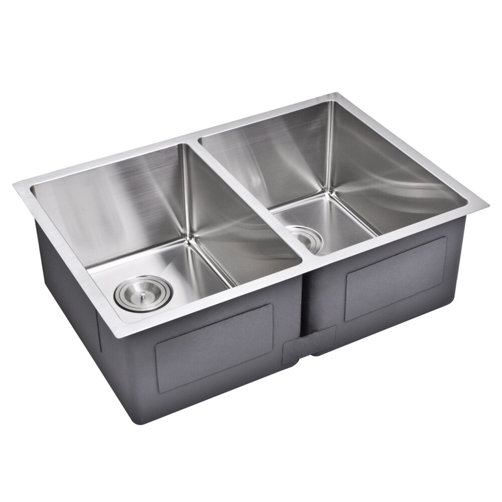 Water Creation Double Bowl Kitchen Sink & Reviews Wayfair