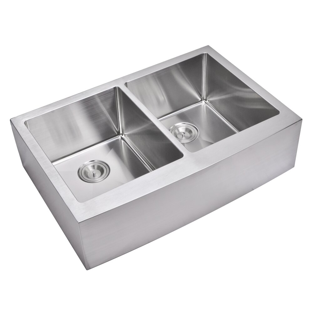 Kitchen Sink Double : Kitchen Sinks Water Creation Part #: SSSG-AD-3322C SKU: YWC1344