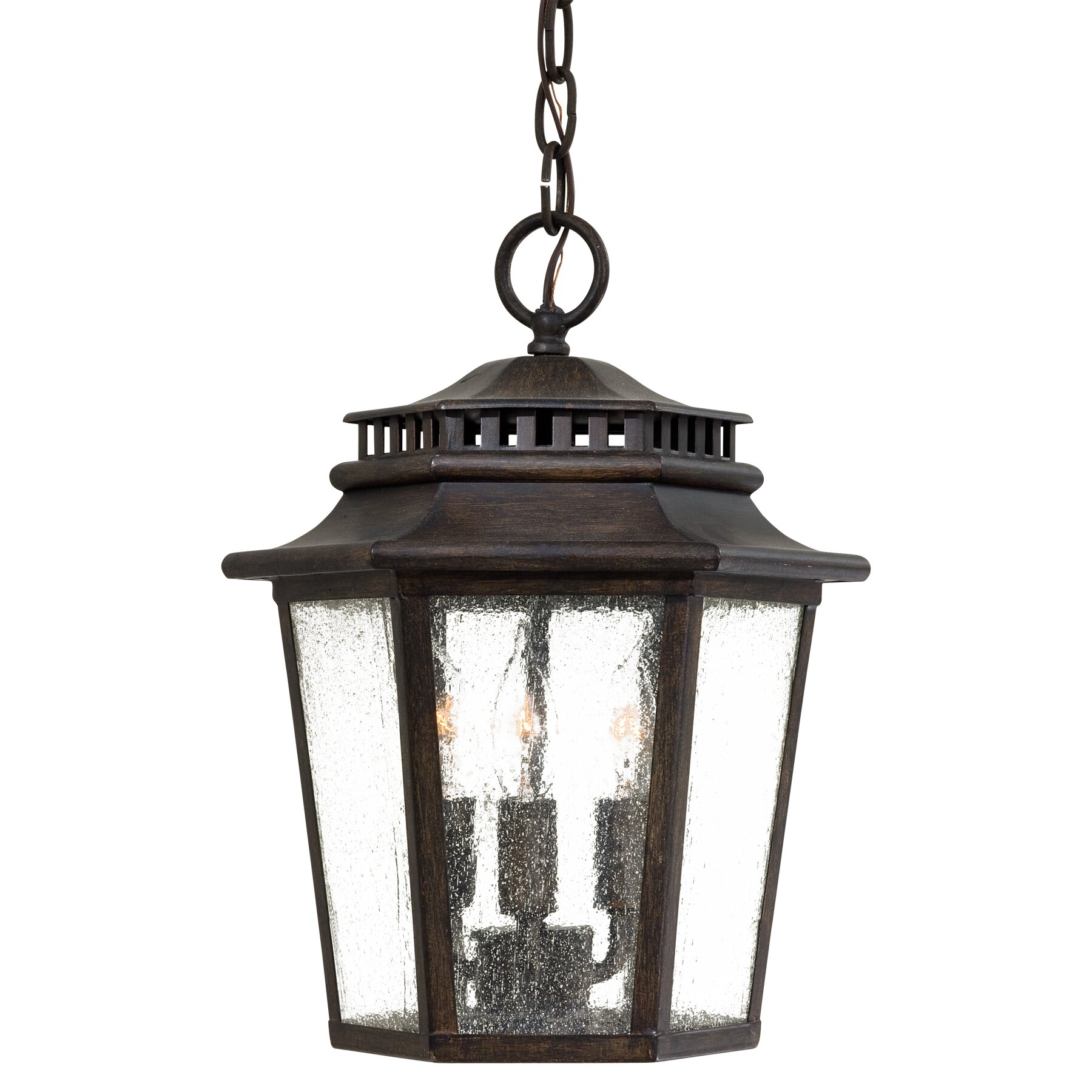 Wickford bay 3 light outdoor hanging lantern wayfair for Luminaire exterieur suspendu