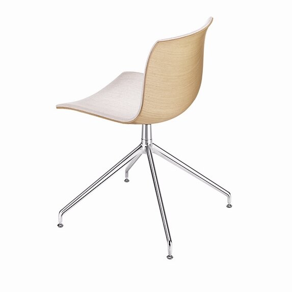 Arper Catifa 53 Polypropylene Two Tone Chair With 4 Way