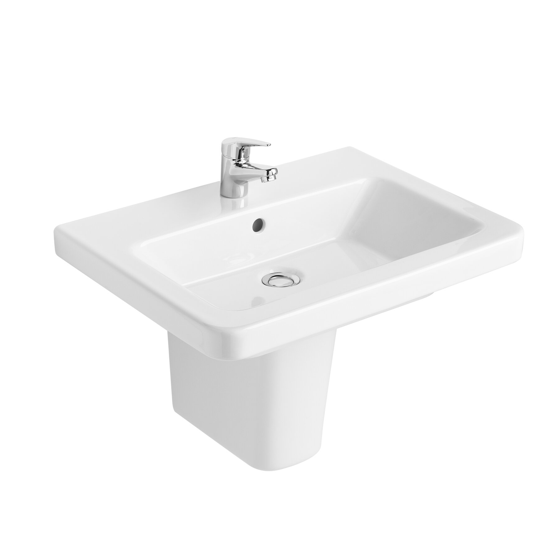 Bissonnet Universal Street 55 Semi-Pedestal Bathroom Sink Wayfair