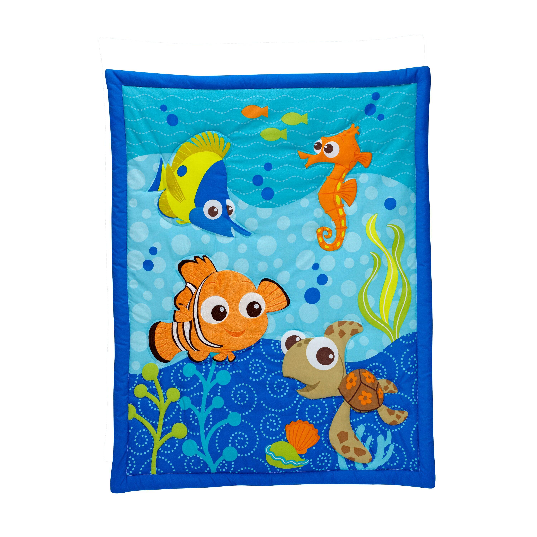 Nemo s reef 4 piece crib bedding set disney baby - 47 Baby Bedding Sets Disney Finding Nemo 3 Piece Crib Bedding Set Baby