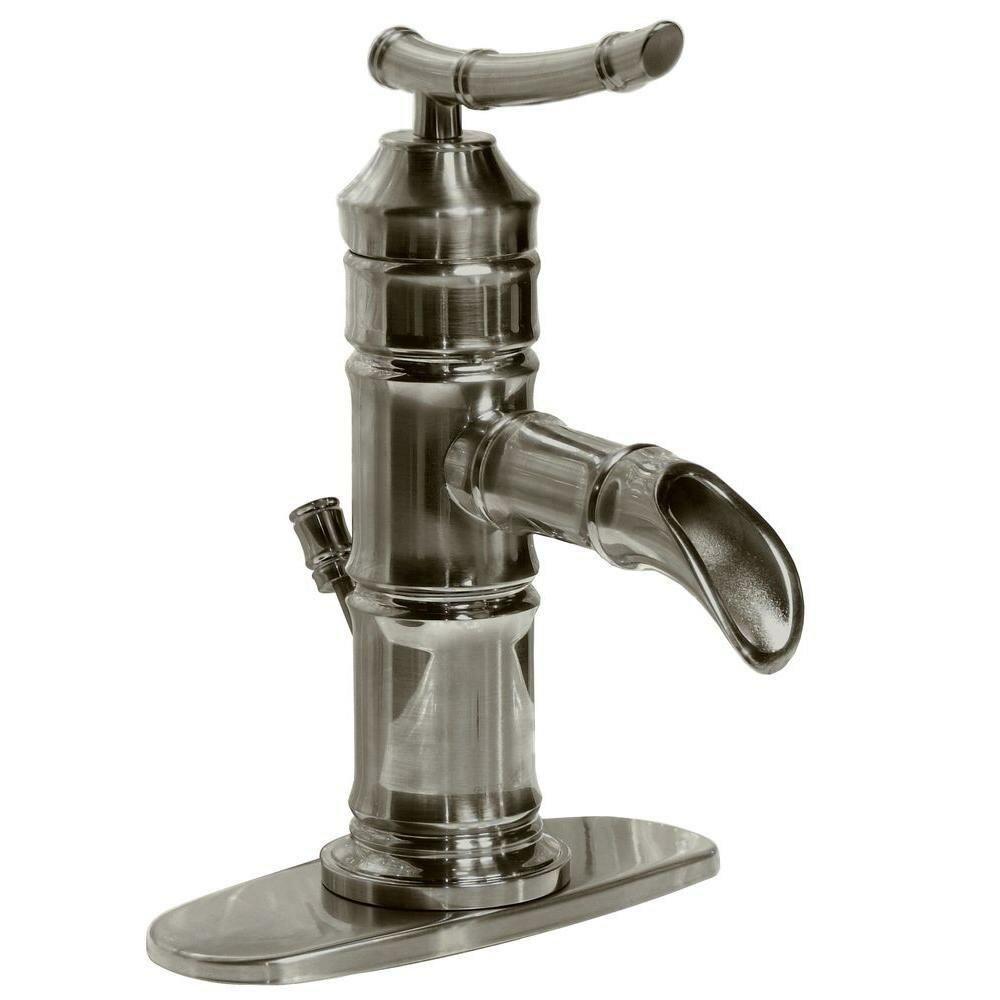 Single Handle Faucet Bathroom : Bamboo Single Handle Centerset Bathroom Faucet by Pegasus