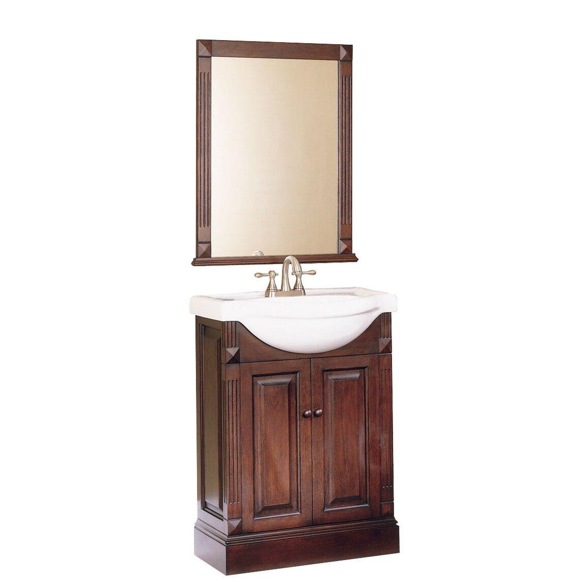 """Pegasus Salerno 25"""" Single Bathroom Vanity Set With Mirror"""