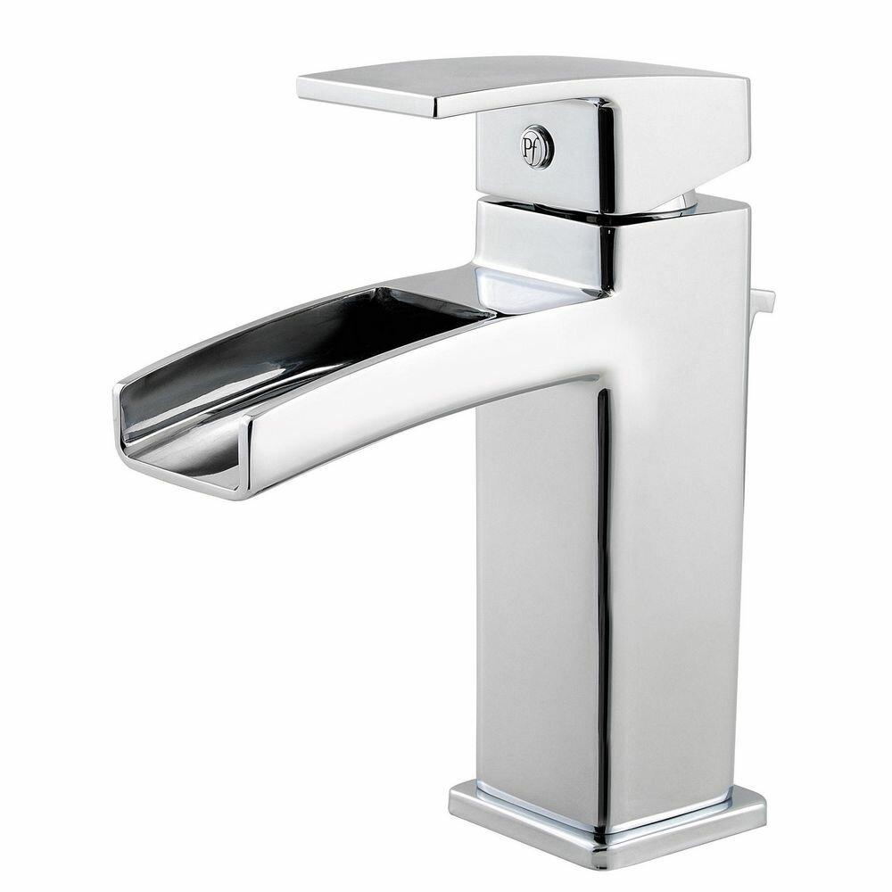Kenzo single handle single hole waterfall faucet wayfair - Single hole waterfall bathroom faucet ...