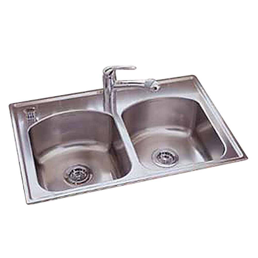 Culinaire 33 Quot X 22 Quot Self Rimming Top Mount Double Bowl