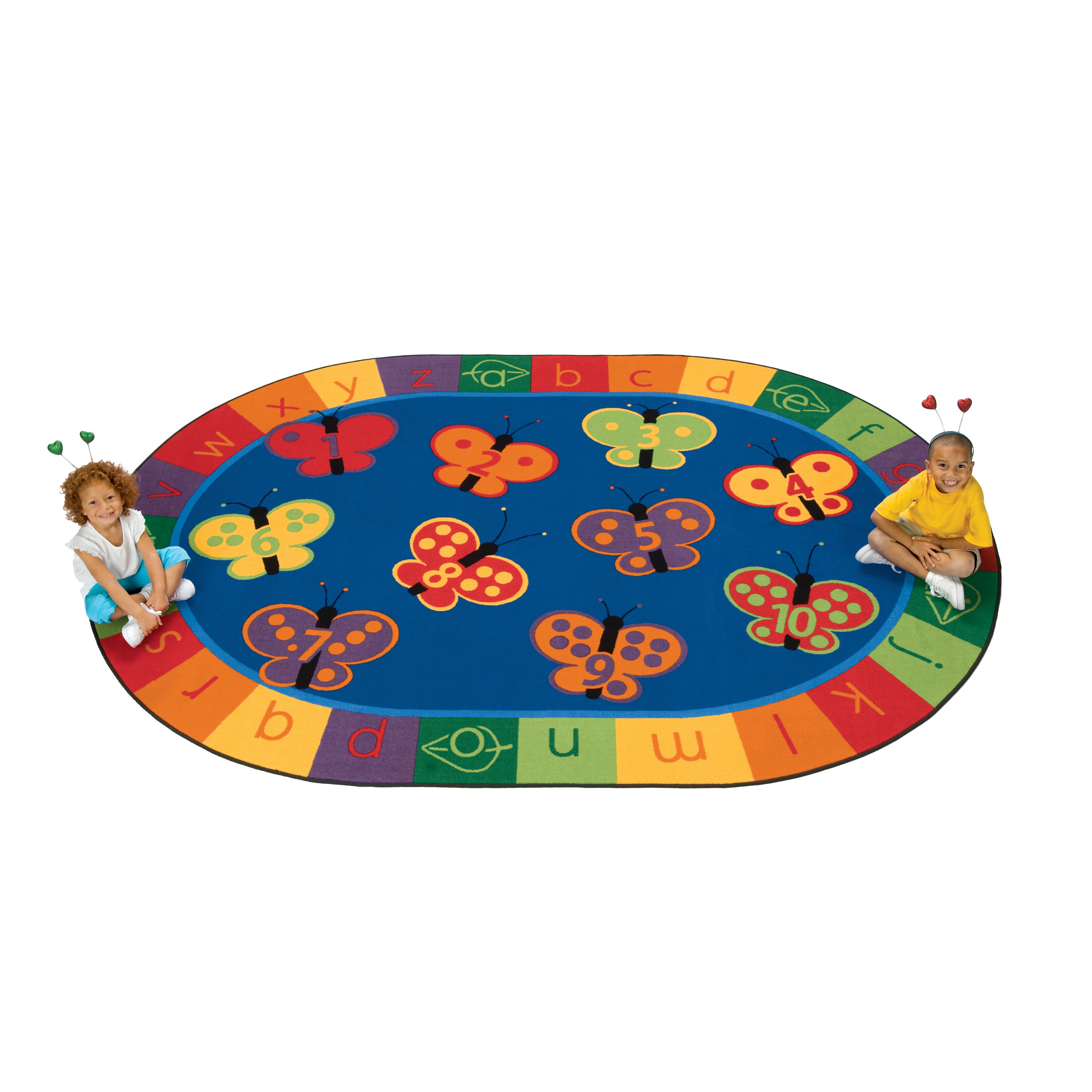 Carpets For Kids Literacy 123 ABC Butterfly Fun Kids Area