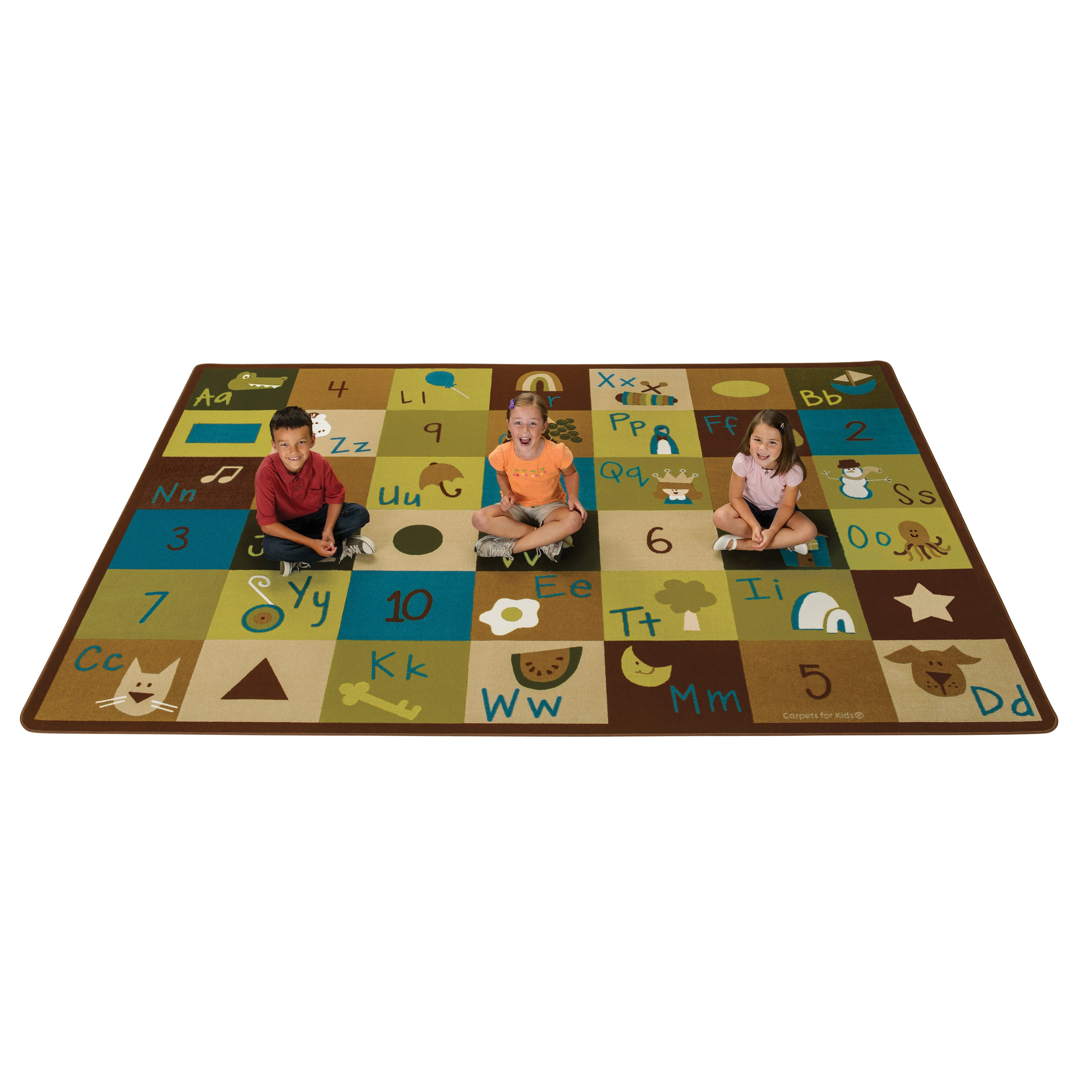 Learning Rug: Carpets For Kids Learning Blocks Nature Kids Area Rug