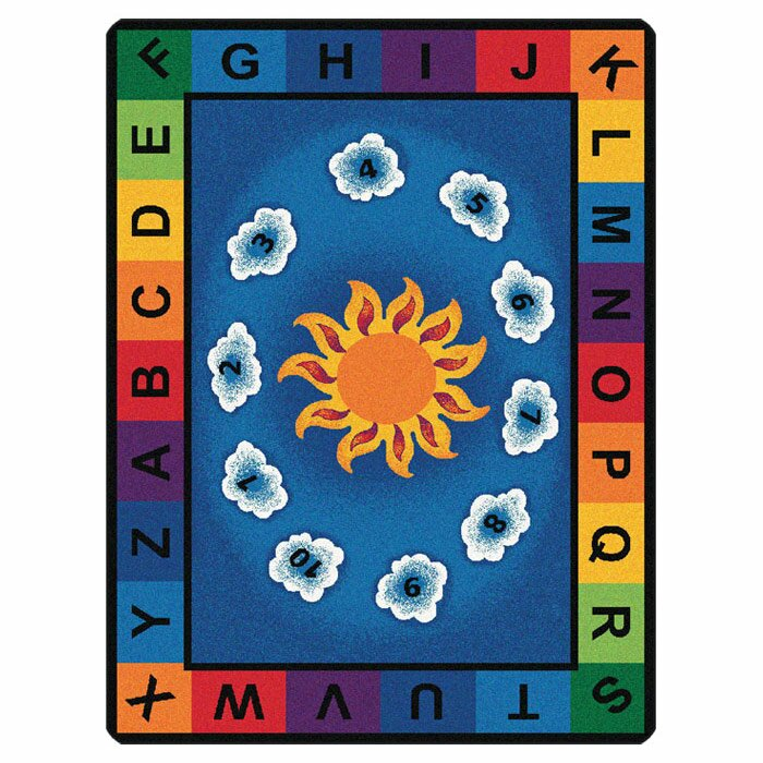 Learning Rug: Literacy Sunny Day Learn And Play Kids Area Rug