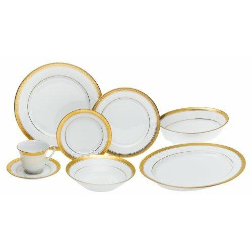 Crestwood Gold 50 Piece Dinnerware Set Wayfair