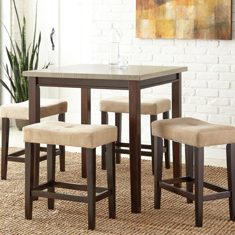 Steve Silver Furniture Aberdeen 5 Piece Counter Height Dining Set Reviews Wayfair