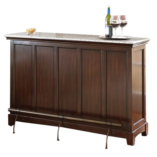 Steve Silver Furniture Newbury Counter Bar With Wine Storage Reviews Wayfair
