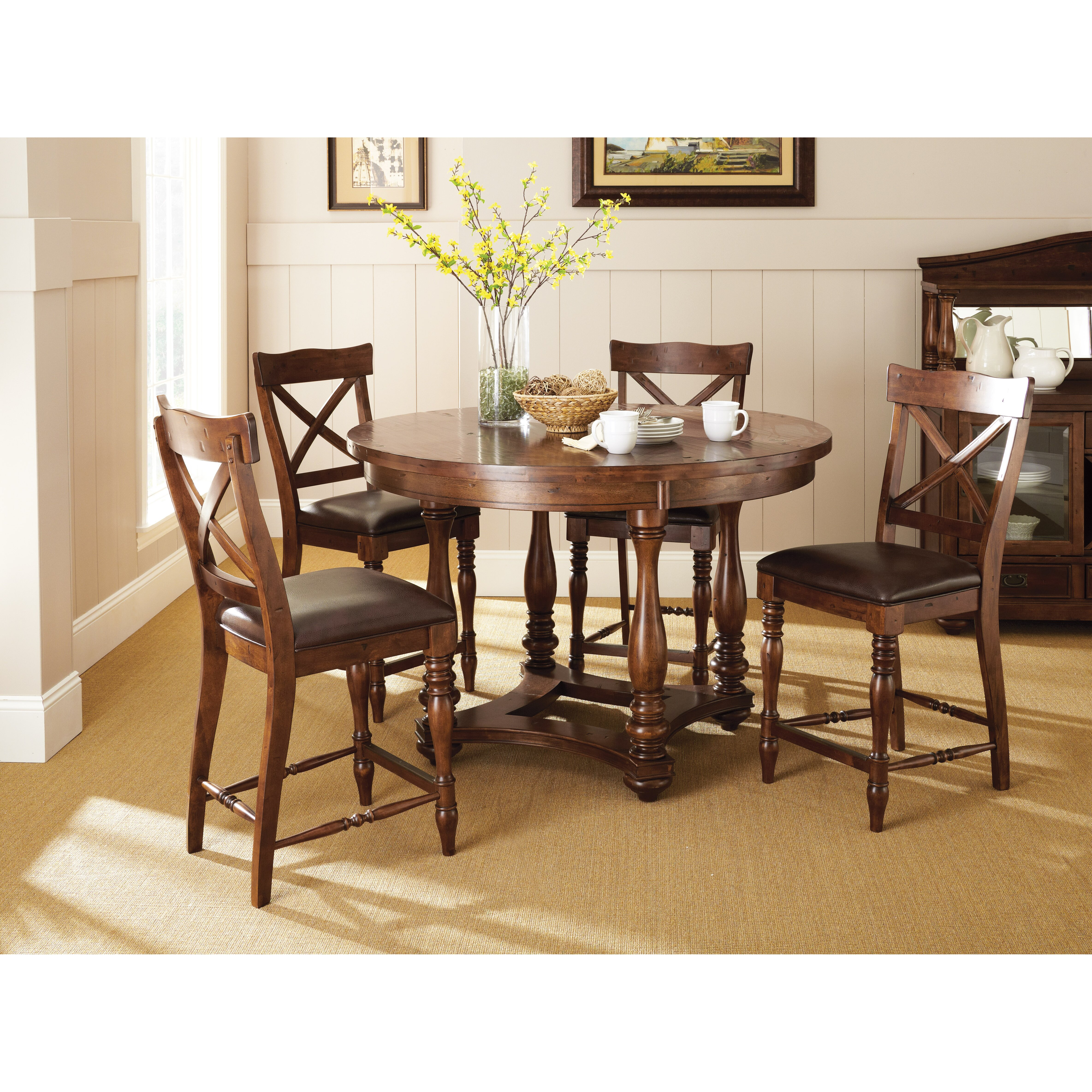 Darby Home Co Weldon 5 Piece Counter Height Dining Set Reviews