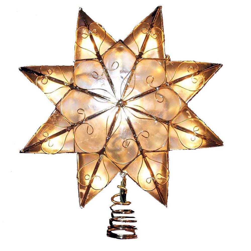 Capiz Star Treetop w/Arabesque Decoration